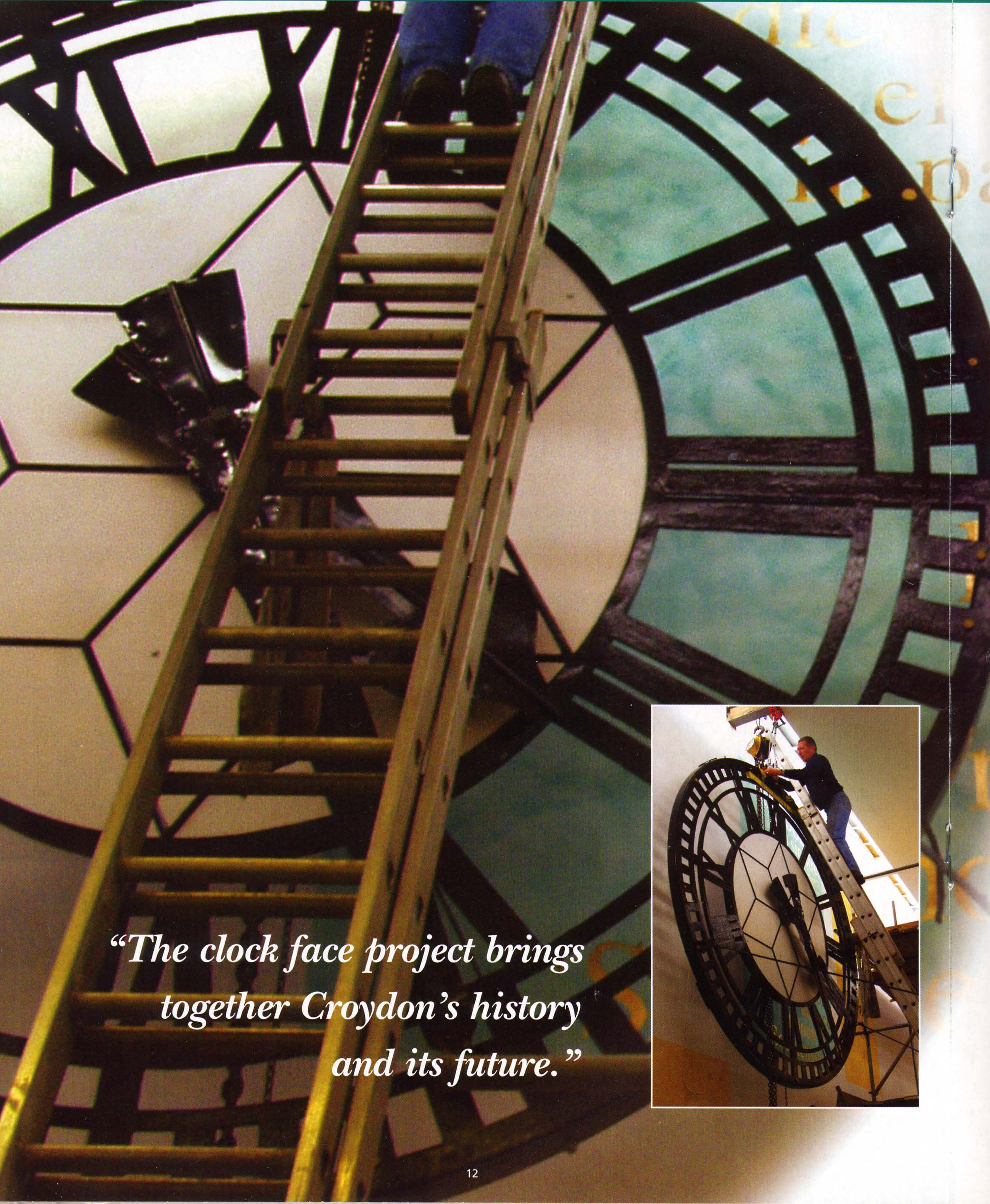 the clock face and the french text