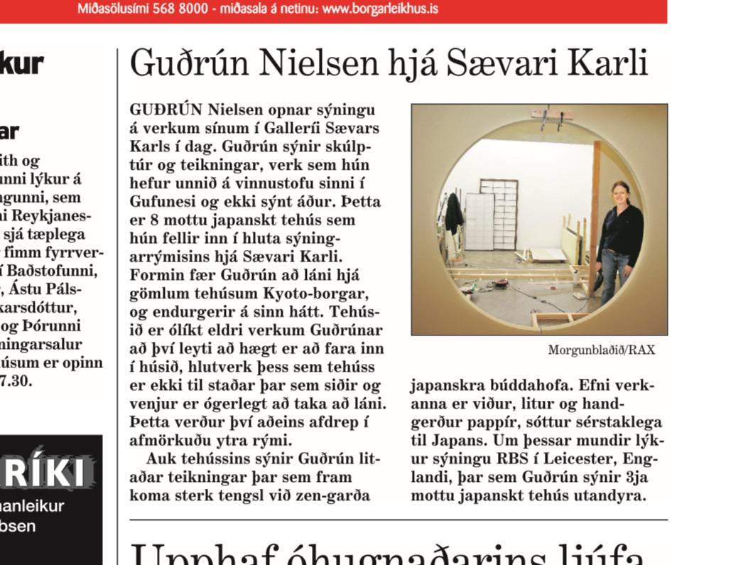 Guðrún Nielsen sýnir hjá Sævari Karli 15.okt. 2005.jpg