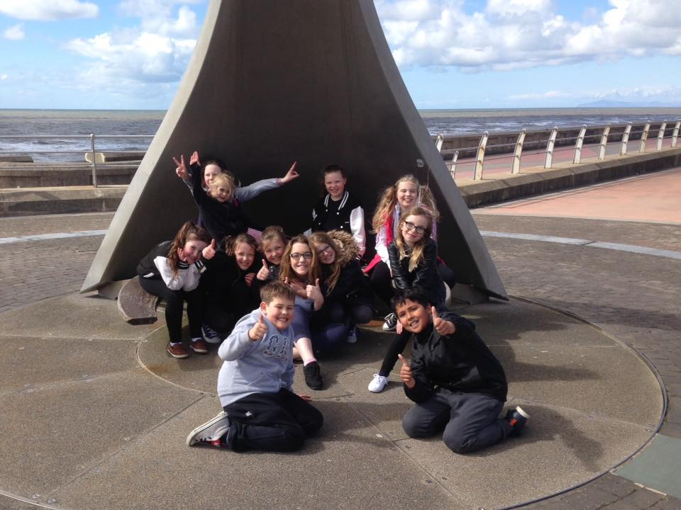 Students on Blackpool prom