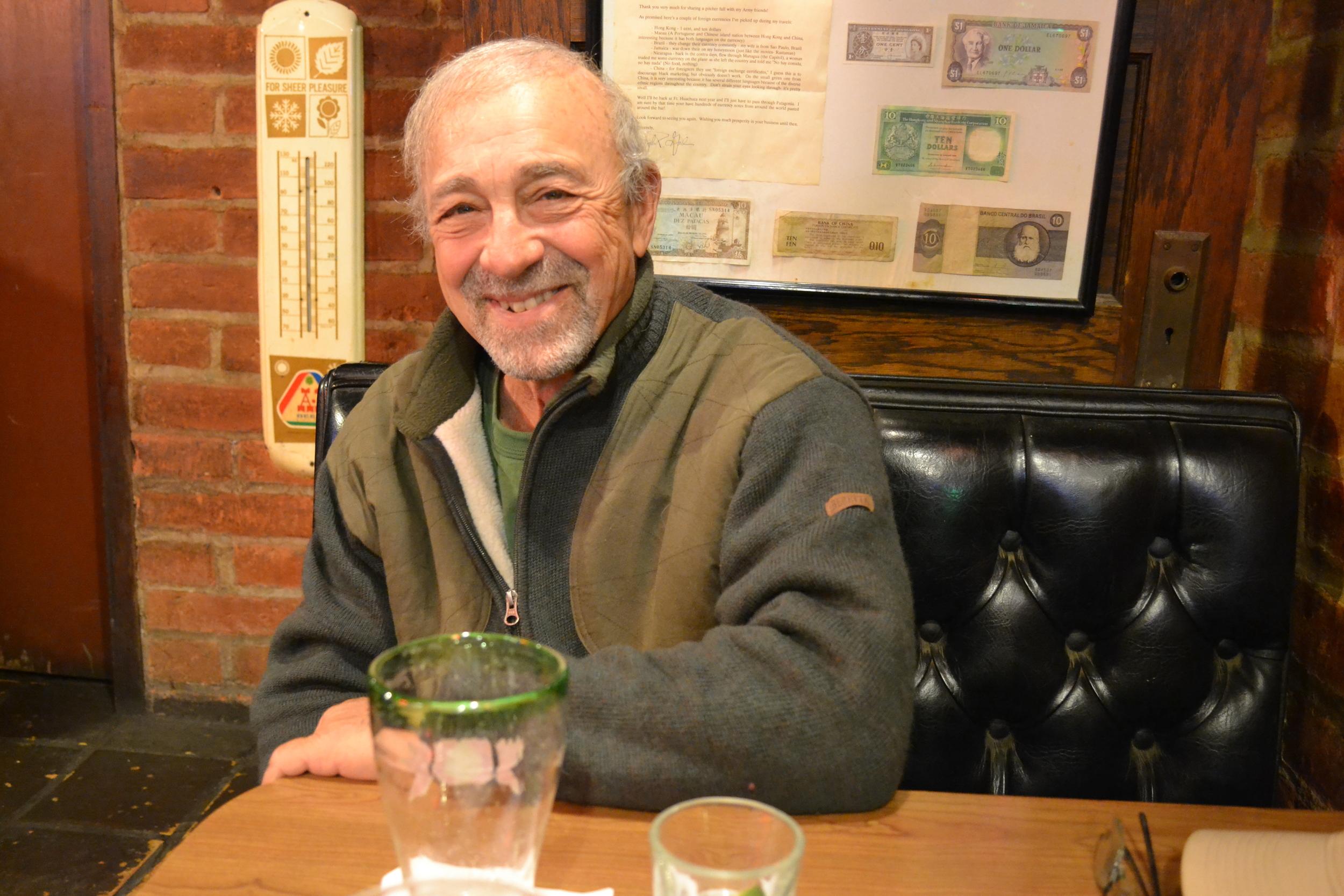 Author/journalist Philip Caputo at the Wagon Wheel Saloon.