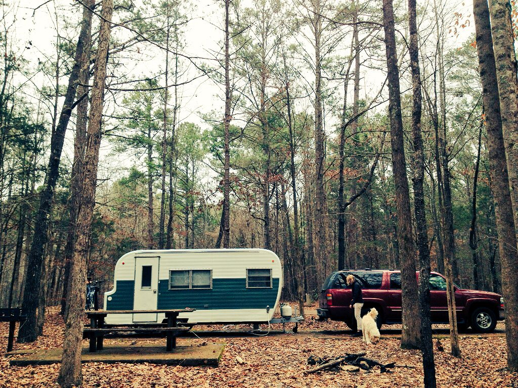 Our campsite makes us feel like we're alone in the woods -- and that's a good thing.