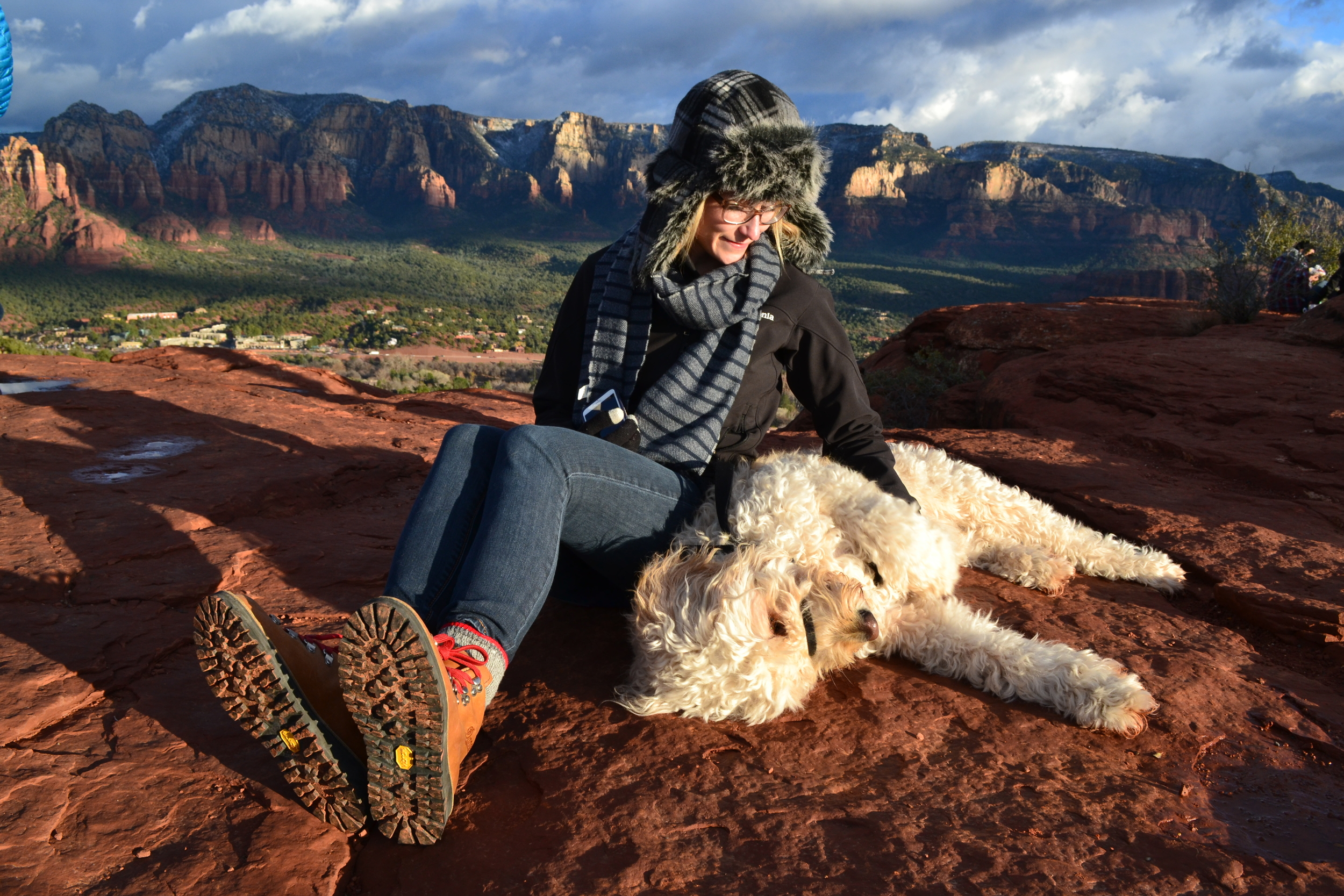 Belly rubs on top of the airport mesa in Sedona? Yes, please.
