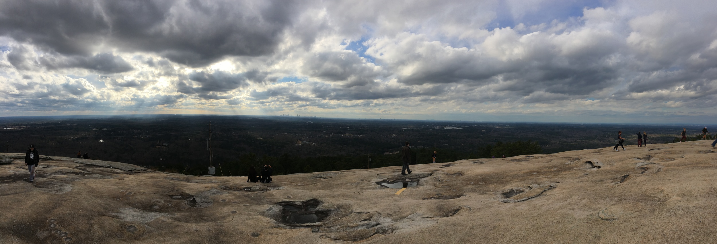 A pretty poor panorama from the top of Stone Mountain. Sorry, people. Whatever.