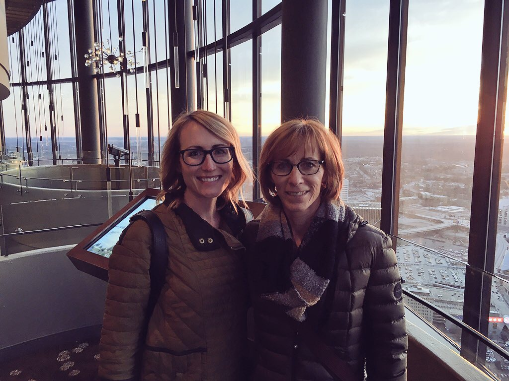 The Dohmen ladies at the top of the Sun Dial. Watch out, ATL.