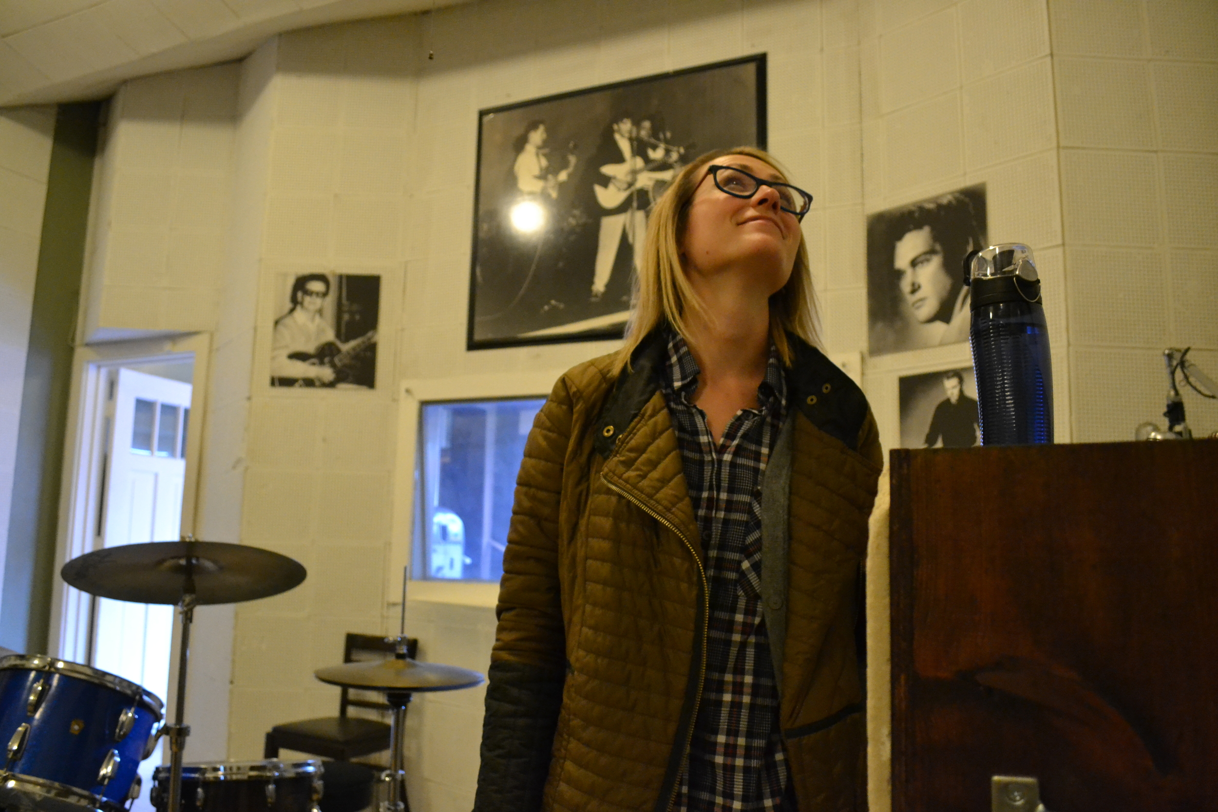 Mel takes in Sun Studio.