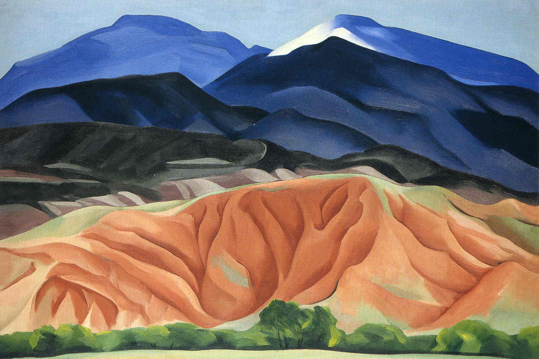 Black Mesa Landscape, New Mexico/Out Back of Marie's II,  Georgia O'Keefe, 1930