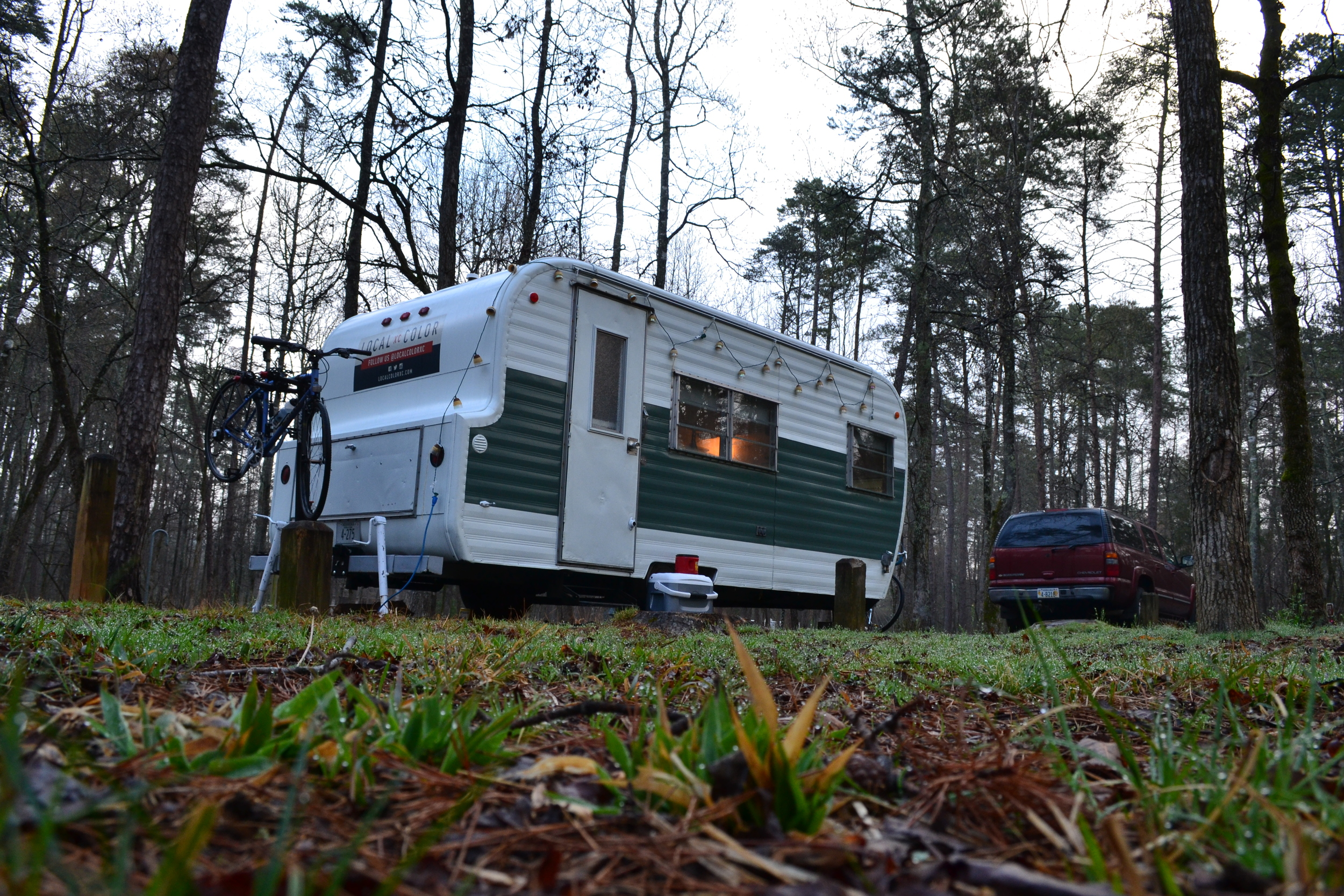 The camp sites are well maintained at Lake Powhatan.
