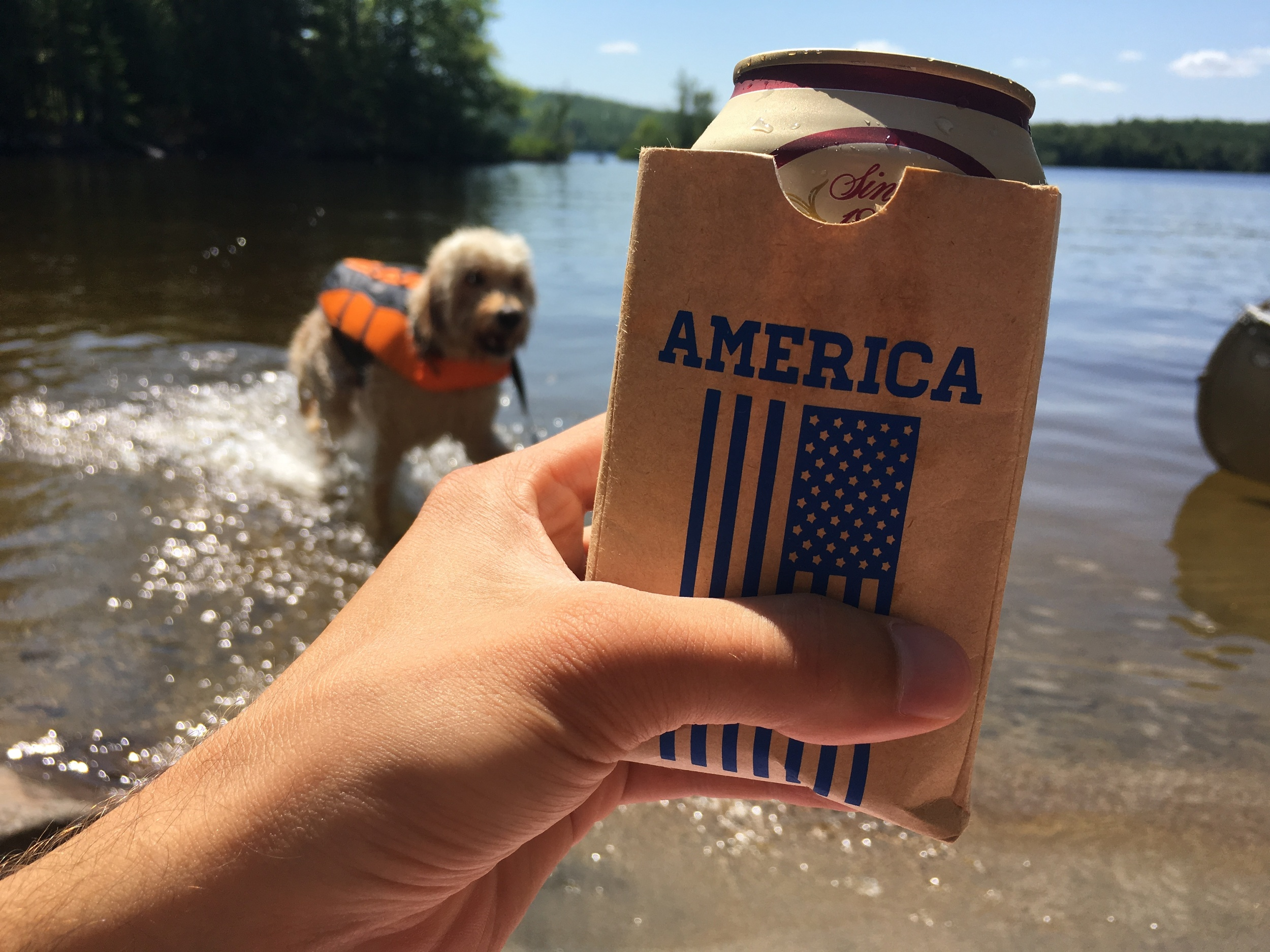 Celebrating America and lake life with Tabled's Team USA Sip Sacks! Click through to purchase or see more of Mel's shop.