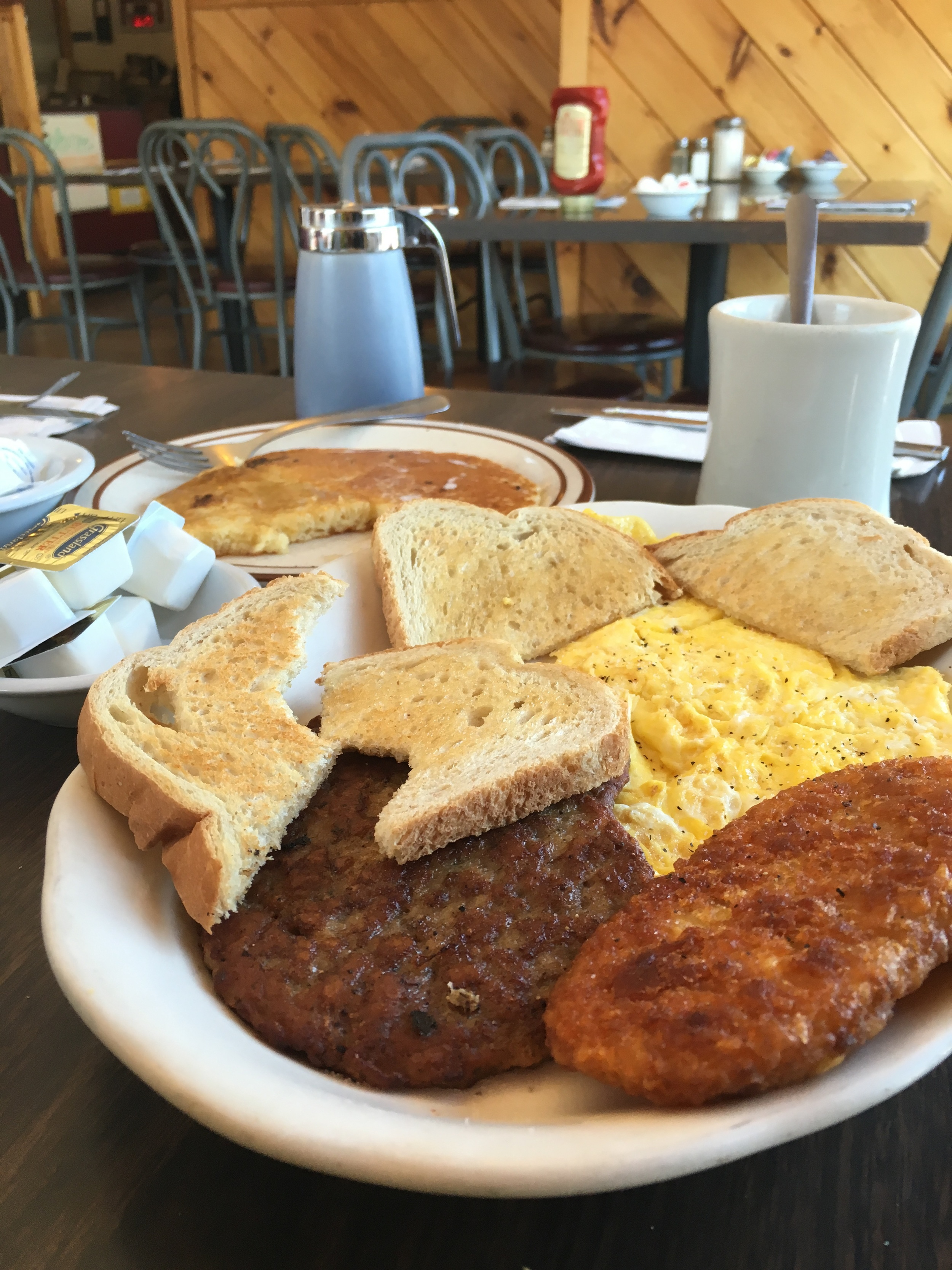 The $5.99 Breakfast Special at Northern Exposure cafe in Errol, NH. Mel had this pretty much everyday of the trip!