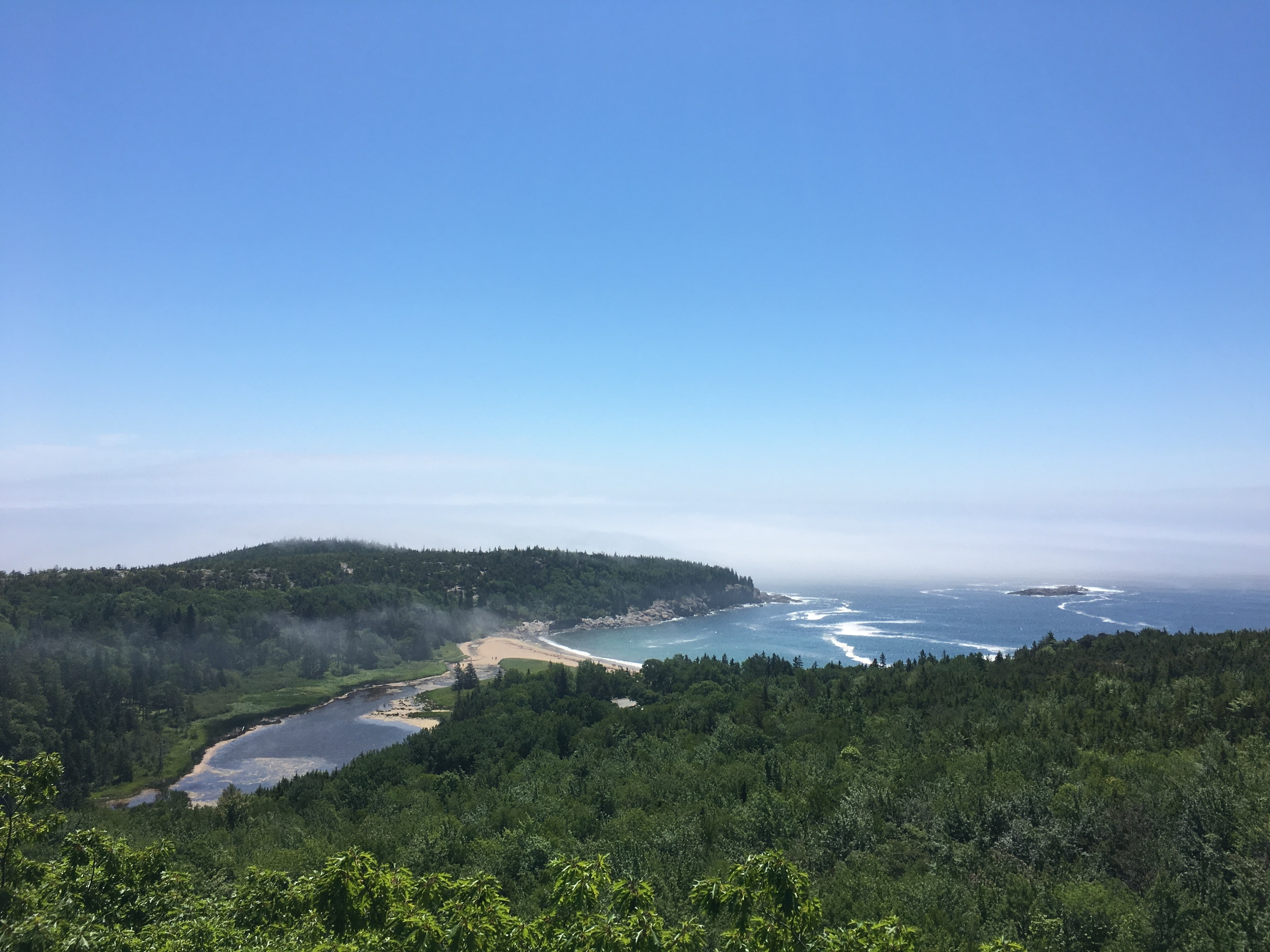 The views from the Beehive trail at Acadia National Park.