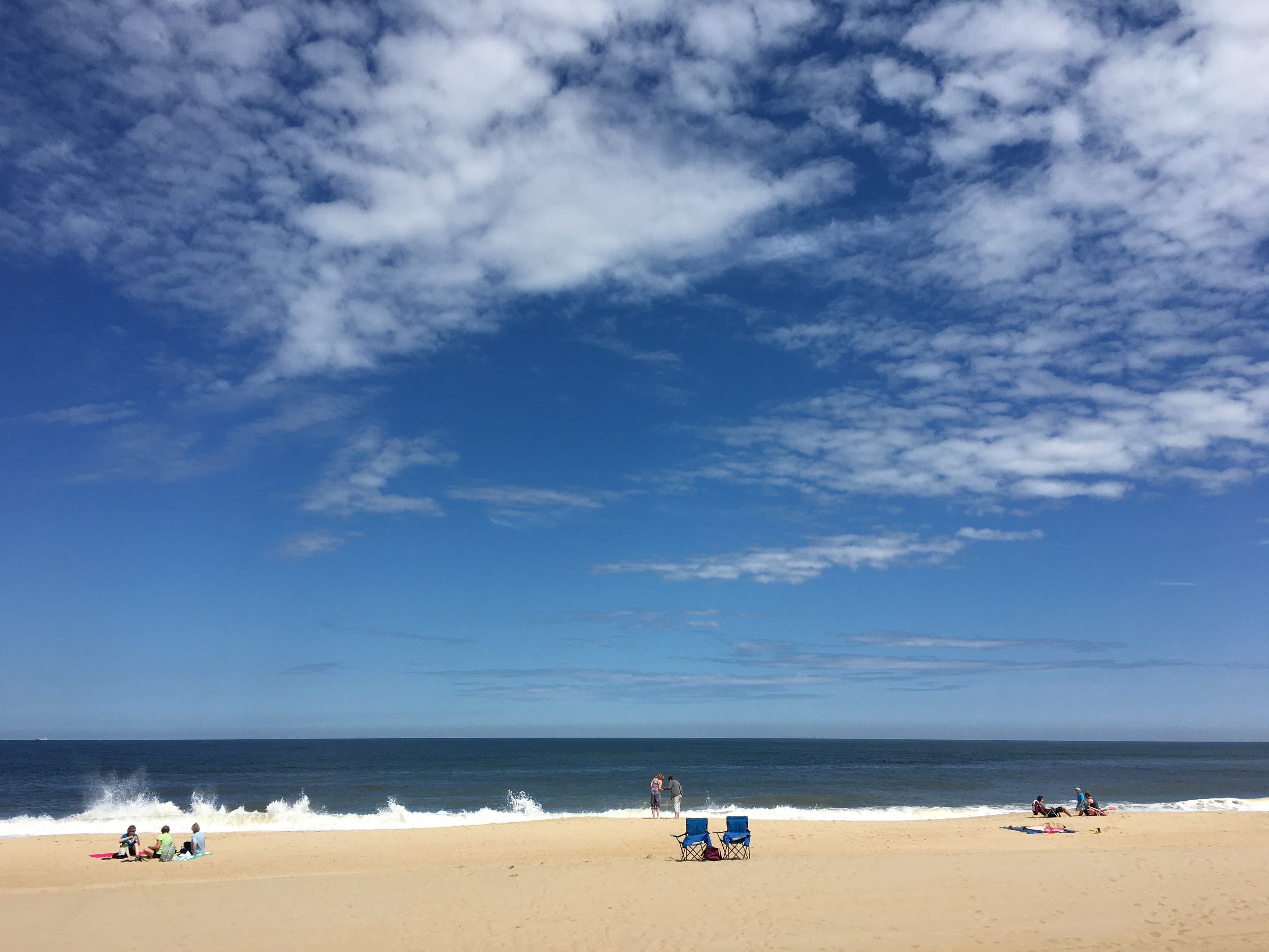 It was a cold, but sunny beach day in Rehoboth.