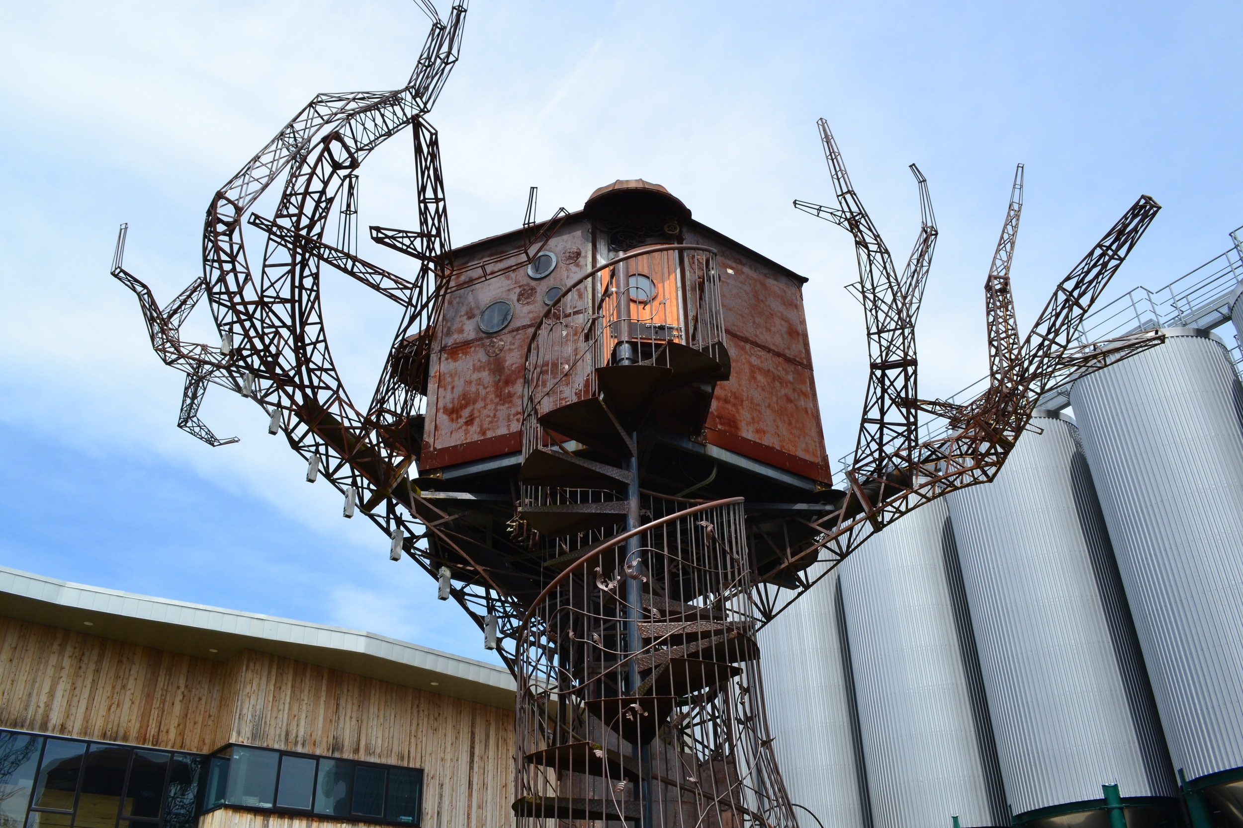 The Burning Man Tree House at Dogfish Head Brewery in Milton.