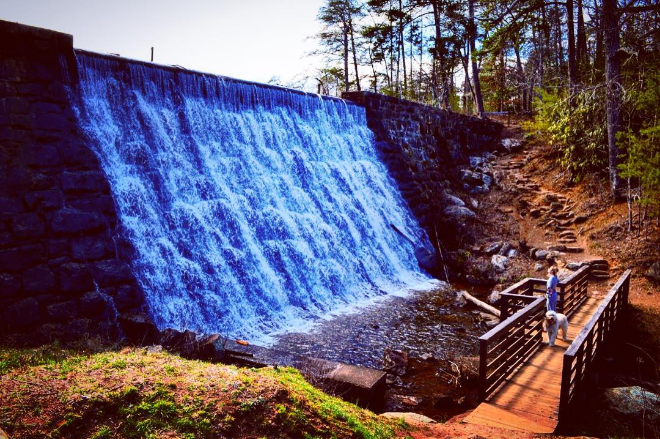 We loved the spillway at Paris Mountain in South Carolina.