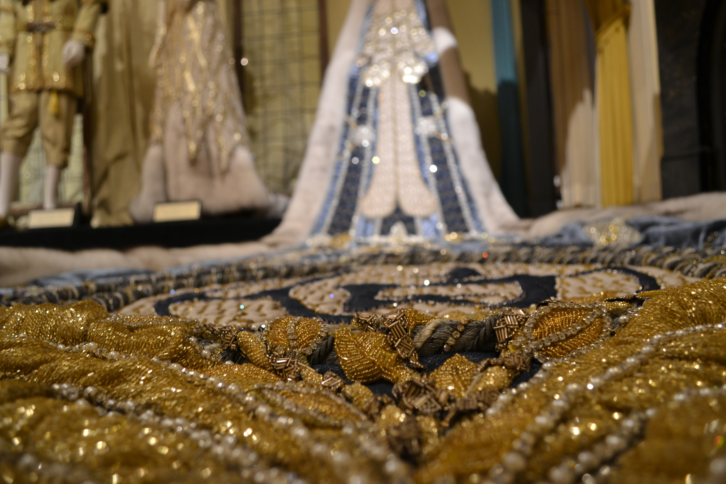 The Mardi Gras museum in Mobile was a sort of strange place. But it was hard not to admire some of the intricate beadwork on the King and Queen gowns of Mardis Gras past.