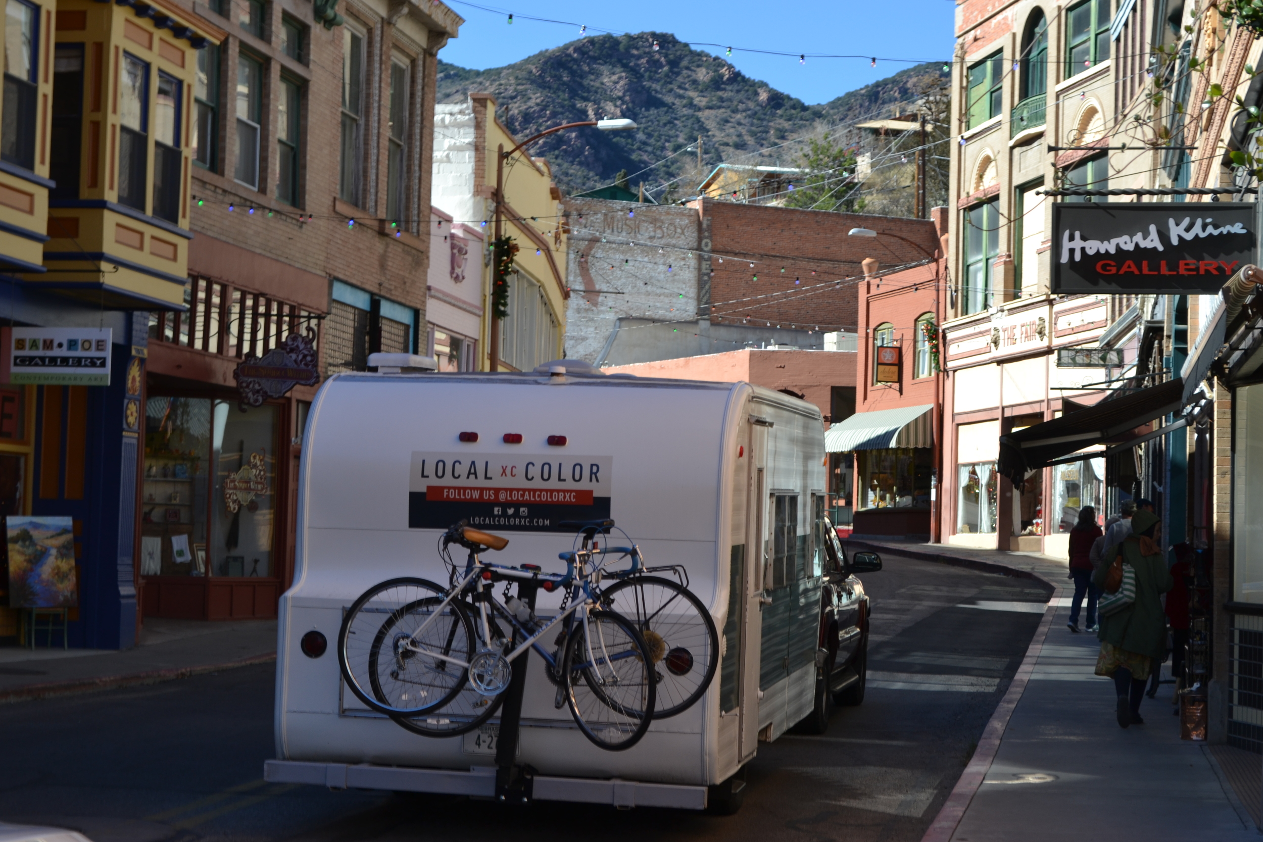 Elsie and the Local Color crew pass through Bisbee, AZ.
