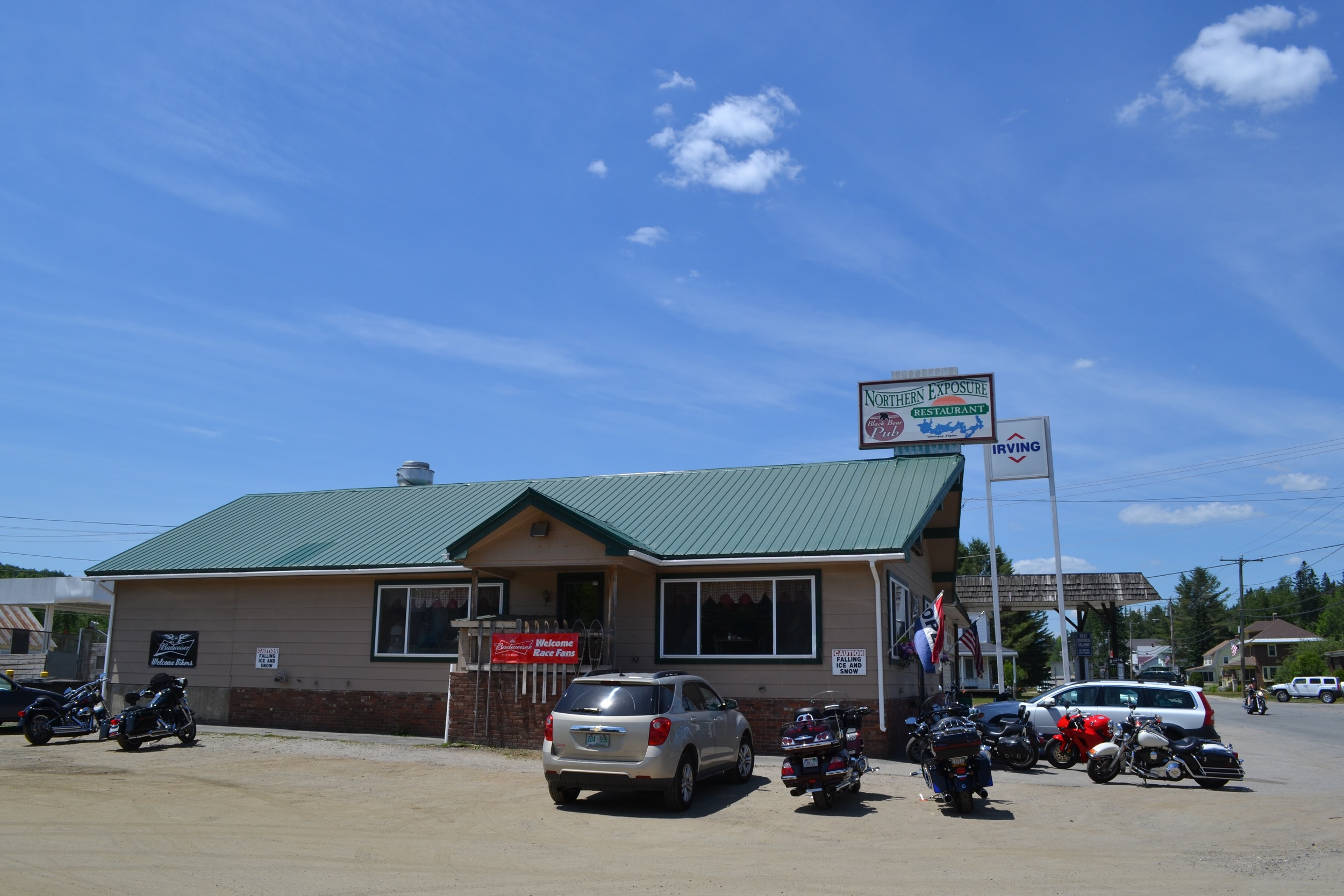 Outside the only diner in town: Northern Exposure. We loved it! Mel got the breakfast special on the daily.