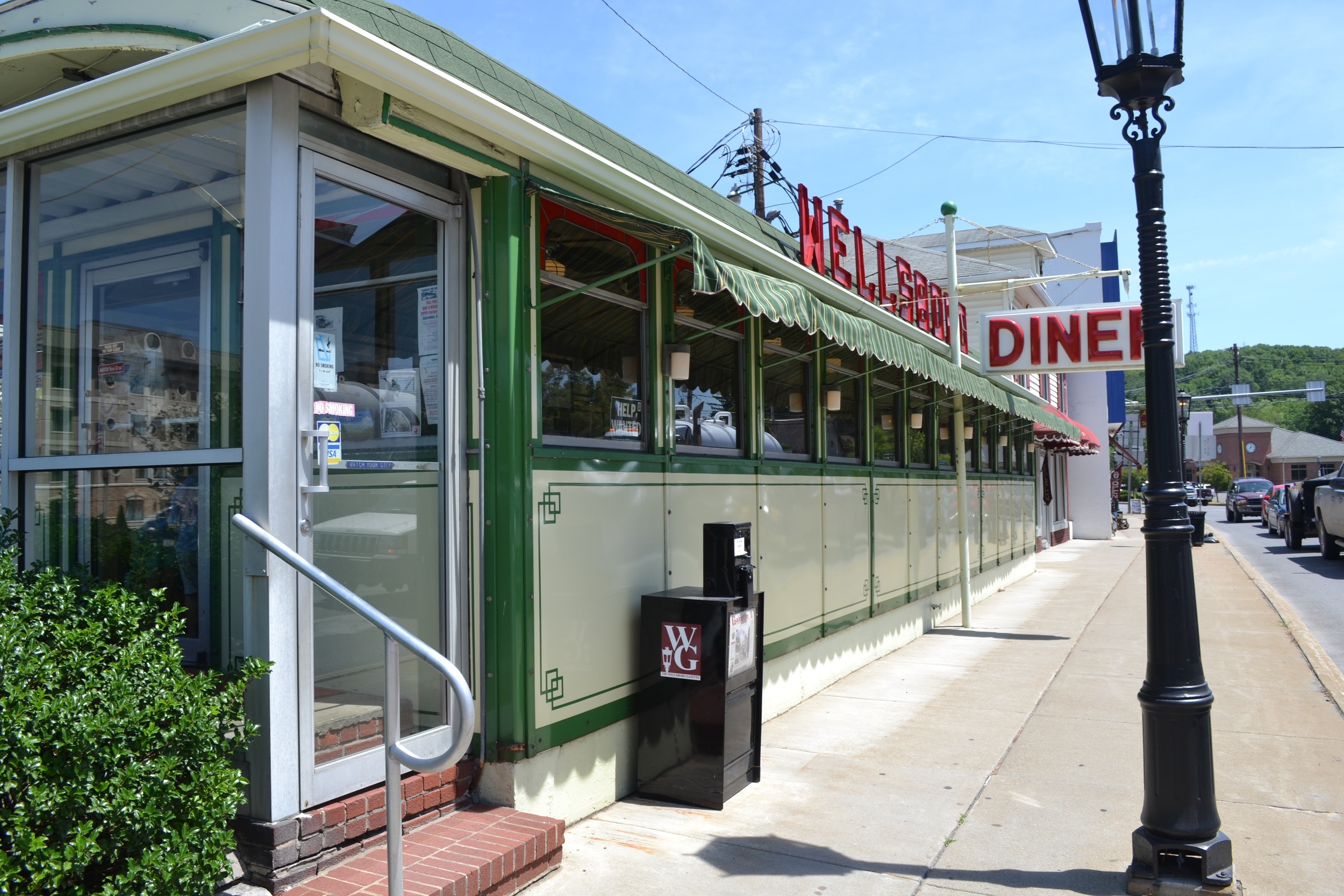 The Wellsboro Diner is a must see in this cutesy small town. It's an old car-stye diner!