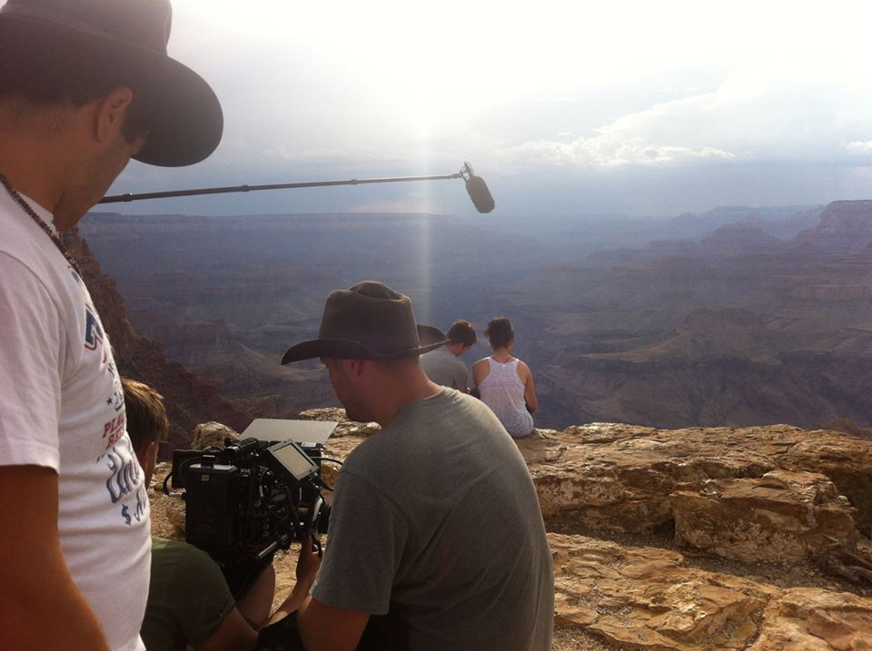 Behind the scenes shot from  West of Her at the Grand Canyon.