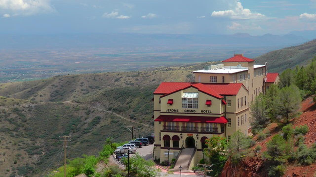 View from the top: the Jerome Grand Hotel.