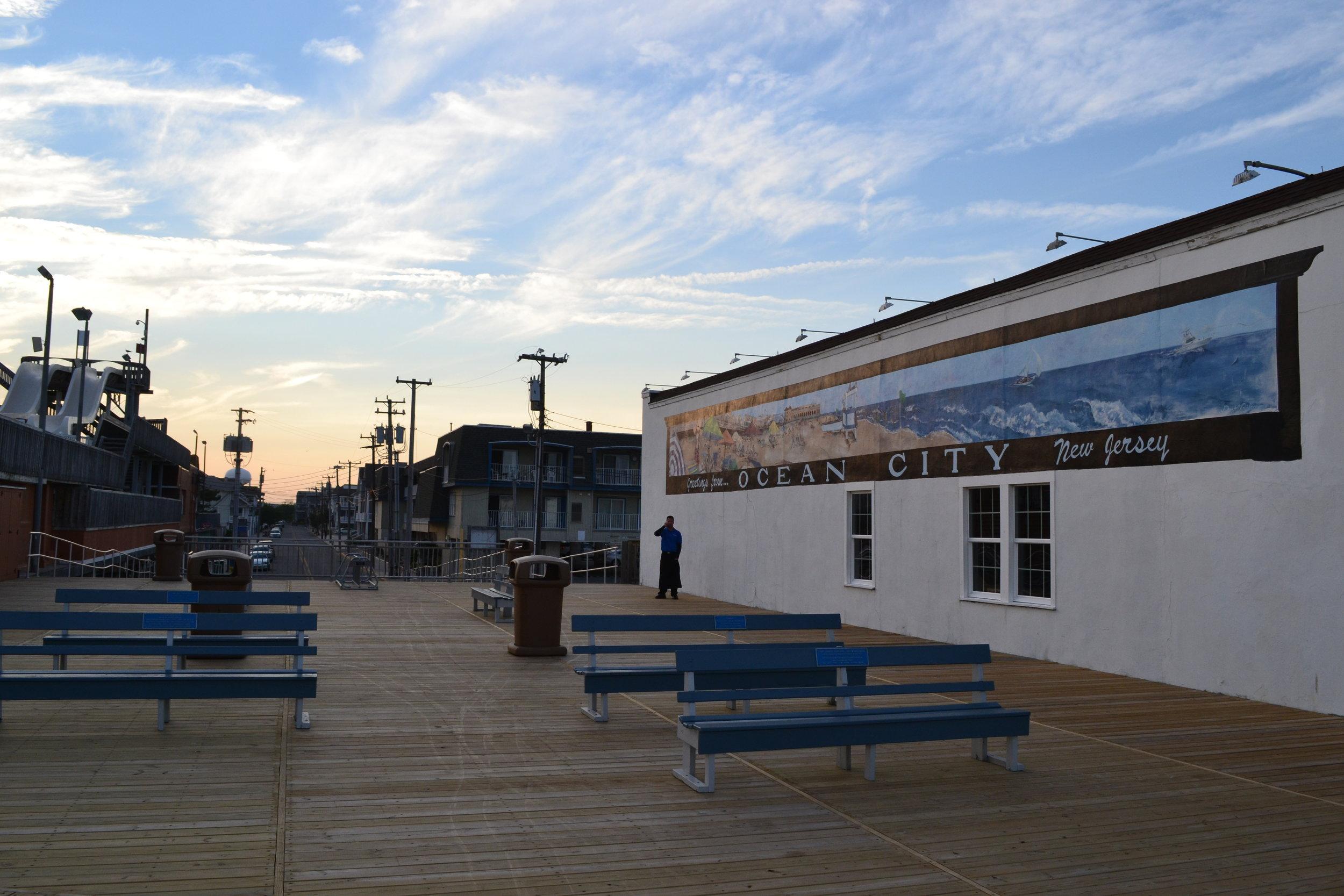 Boardwalk art at Ocean City.