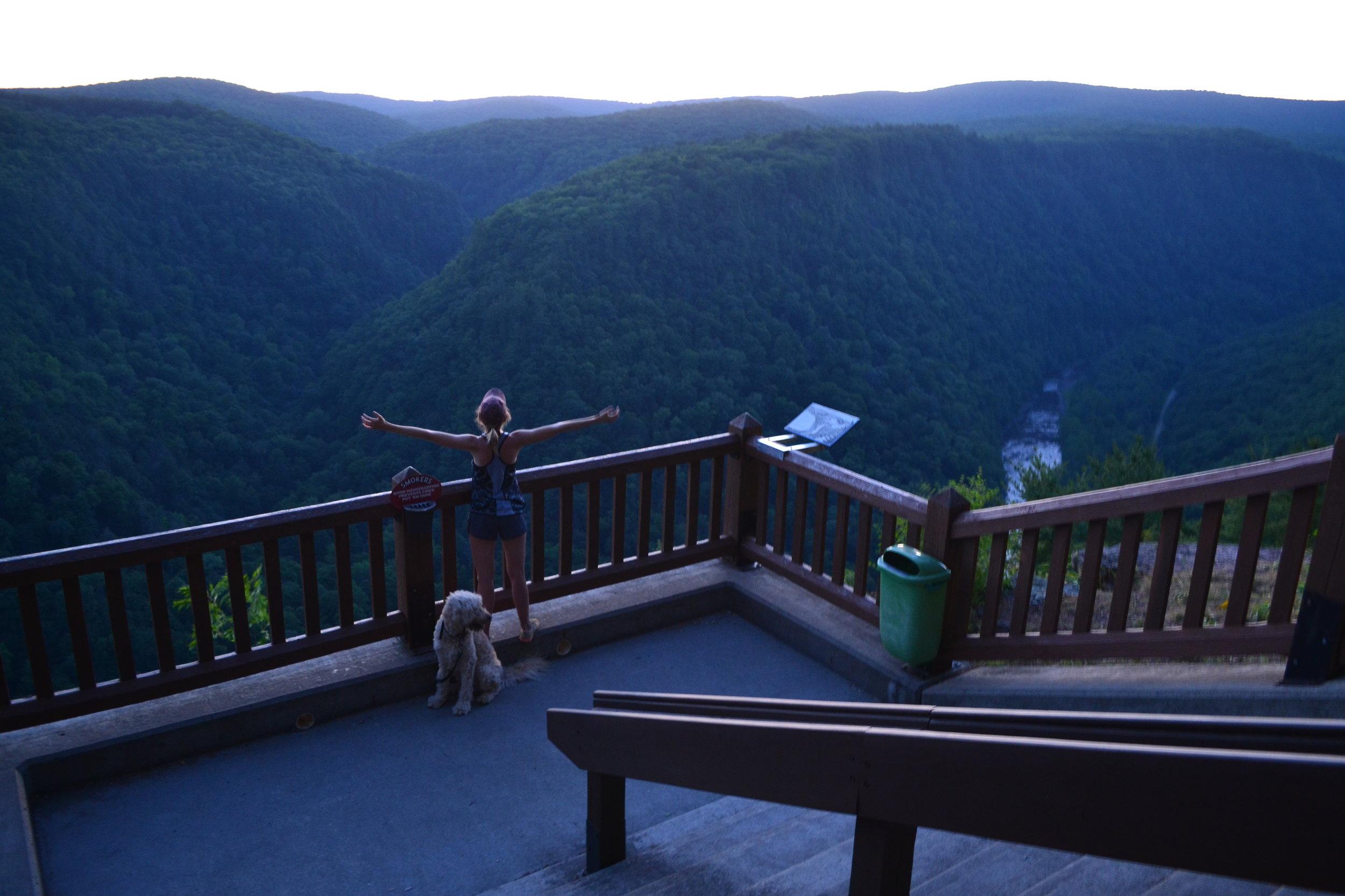 Mel at the steps of PA's Grand Canyon!