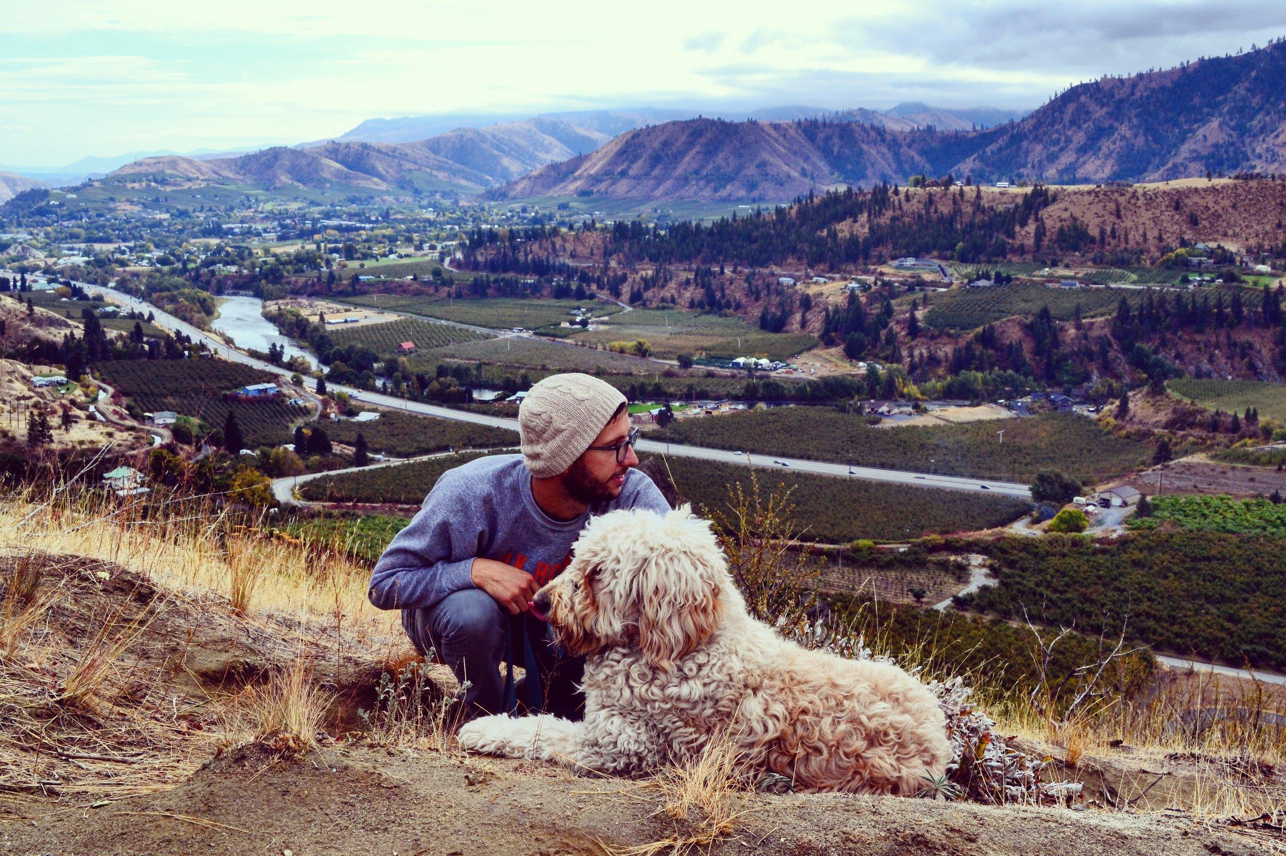 Costello hiked Peshastin Pinnacles in the Columbia River Valley, Washington.