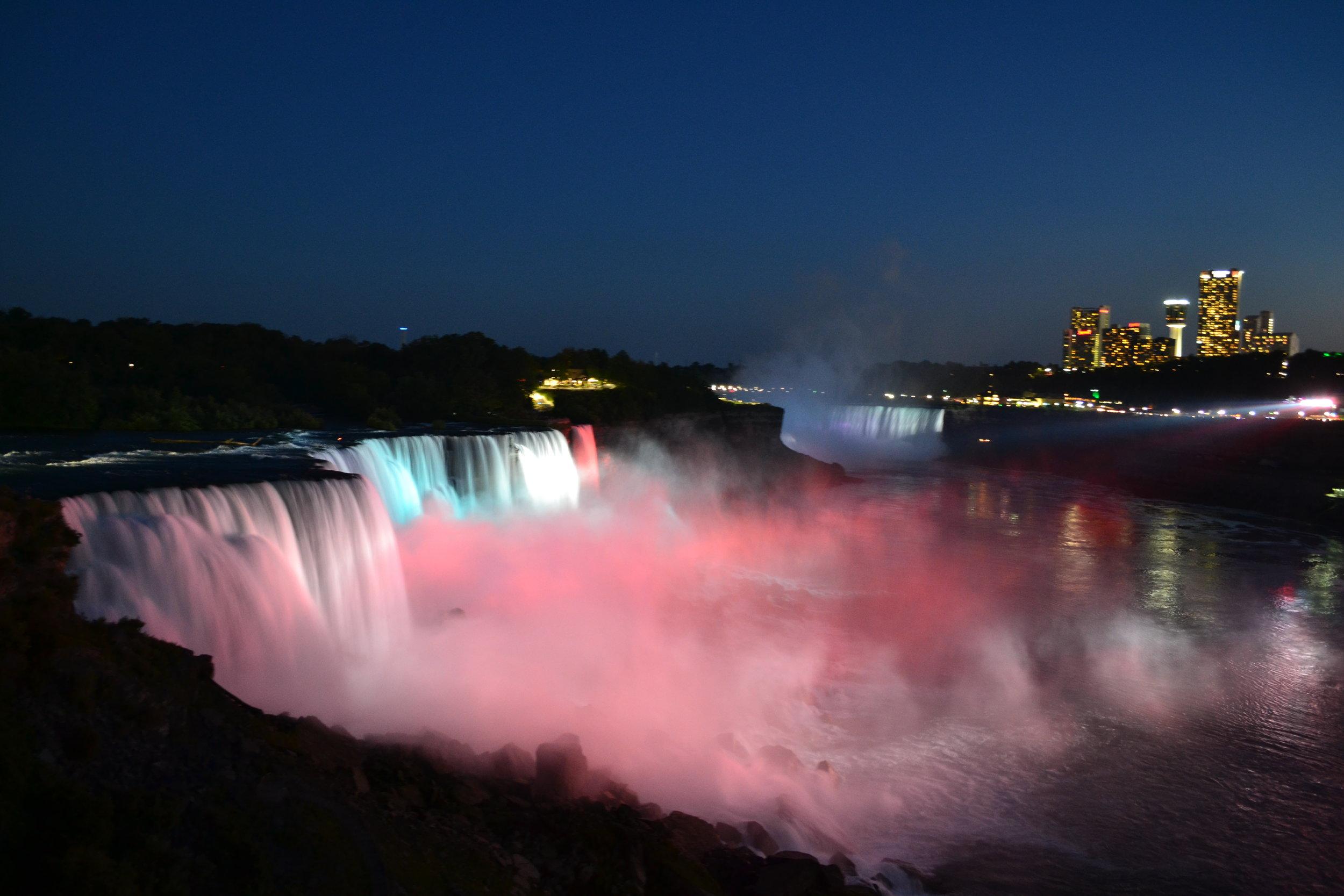 Niagara Falls at night -- it's quite a sight!
