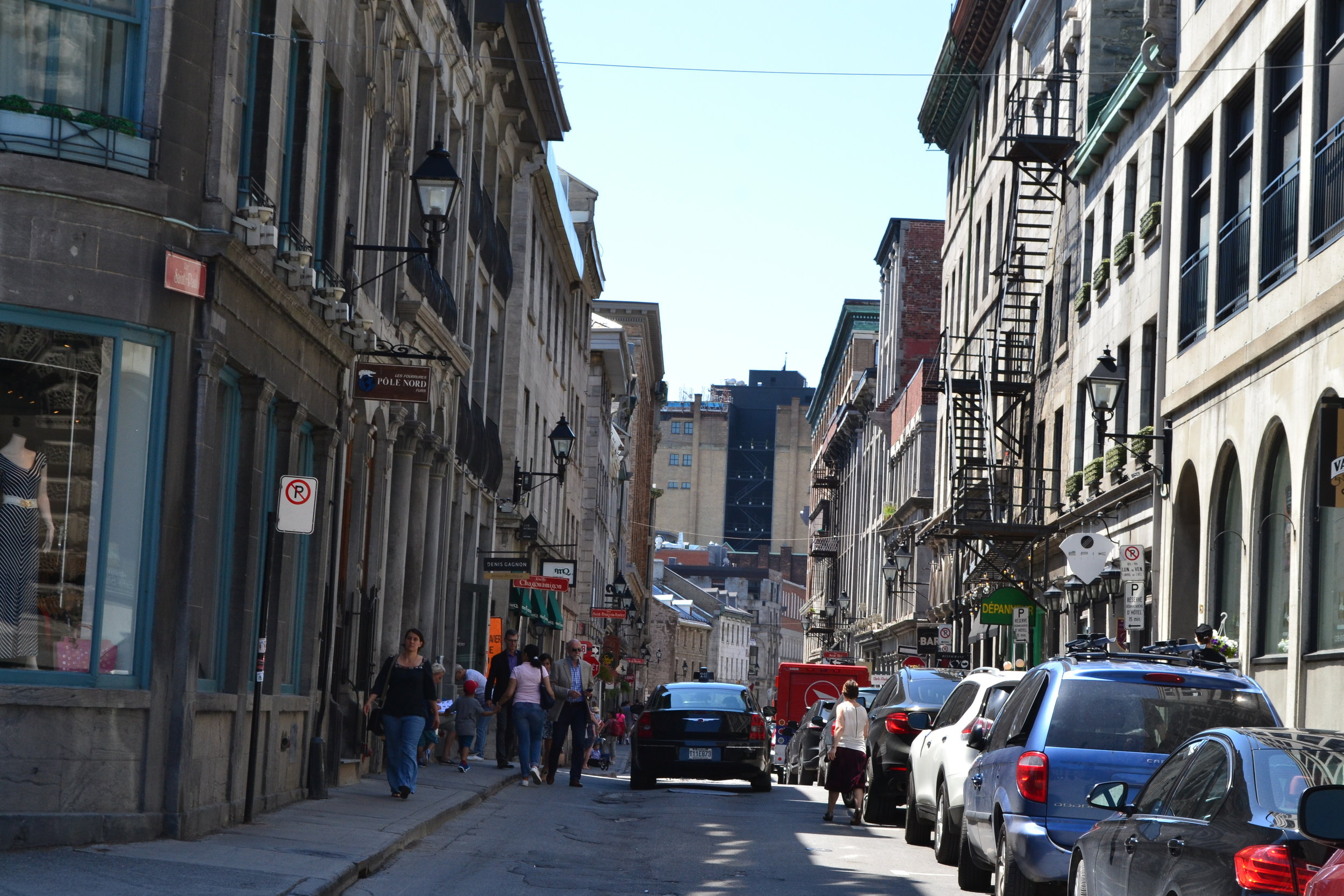 Streets of Old Port in Montreal.