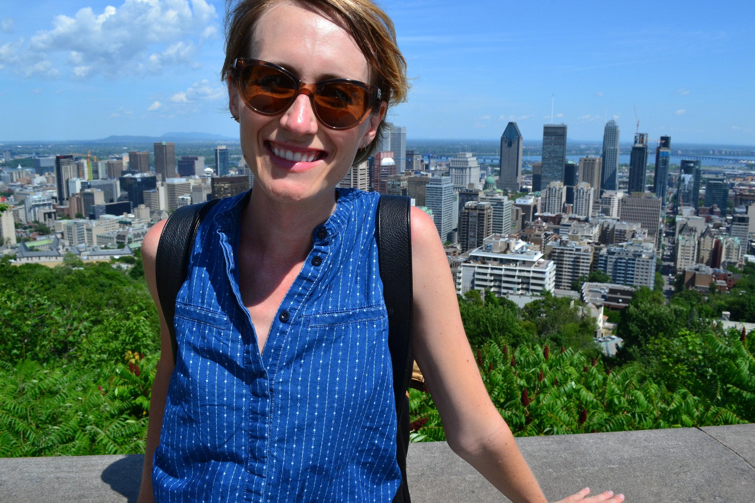 Mel at Mont Royal.