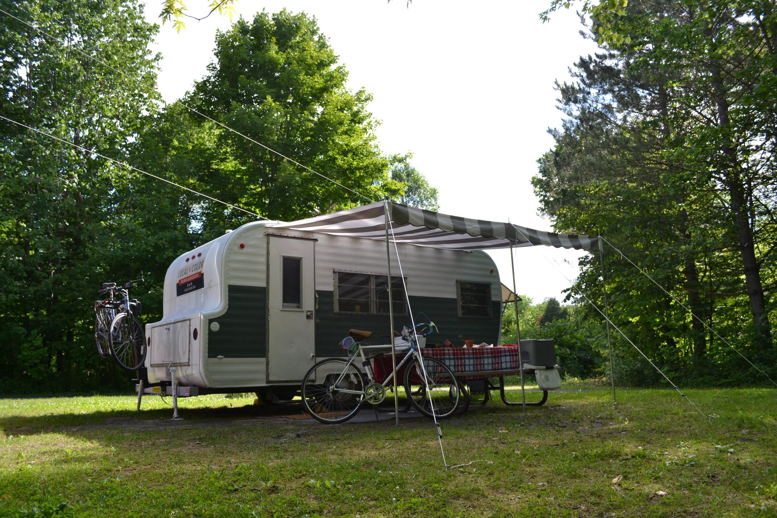 Our campsite at Voyageur Provincial Park.