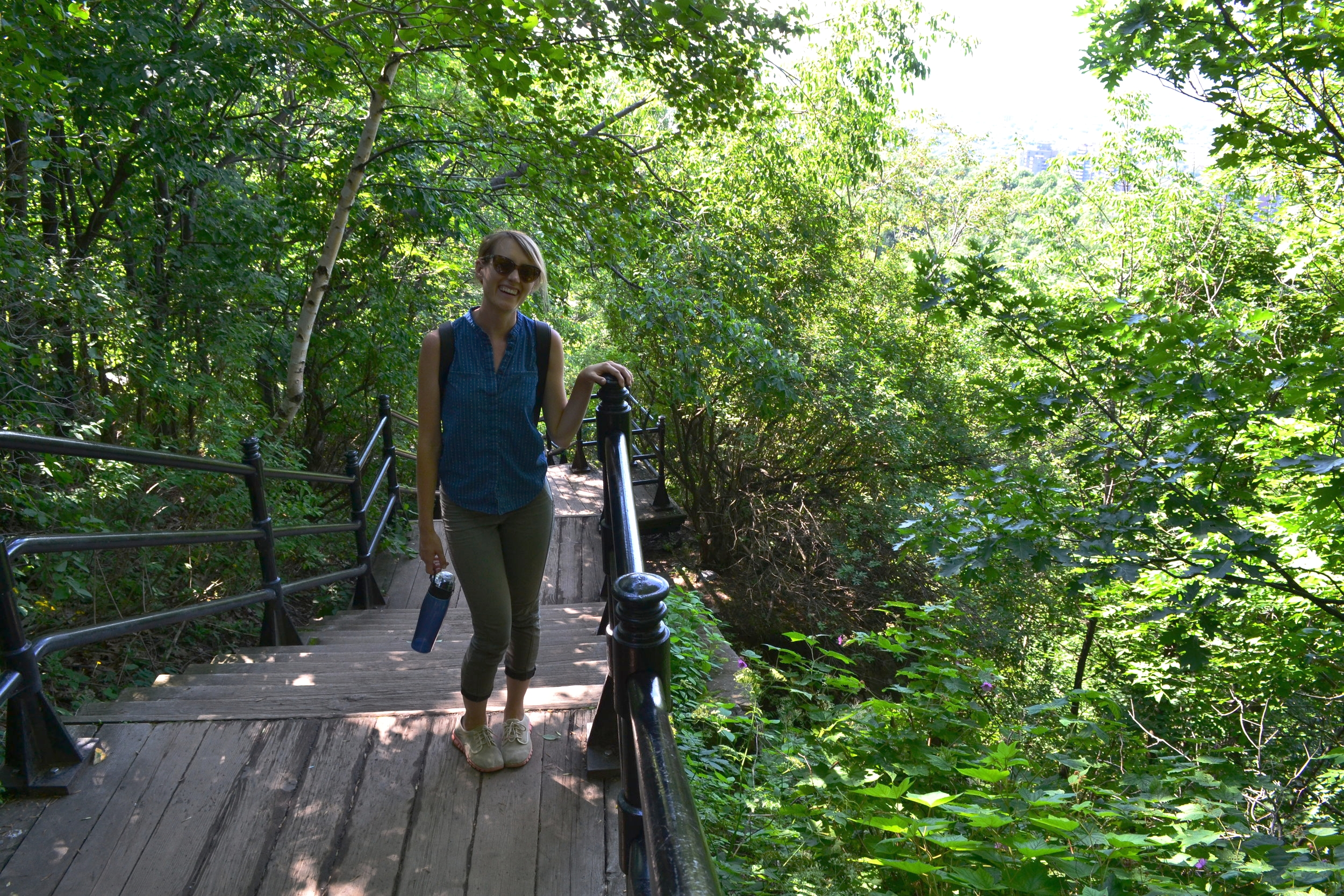 Hiking to the top of Mont Royal -- it's a trek!