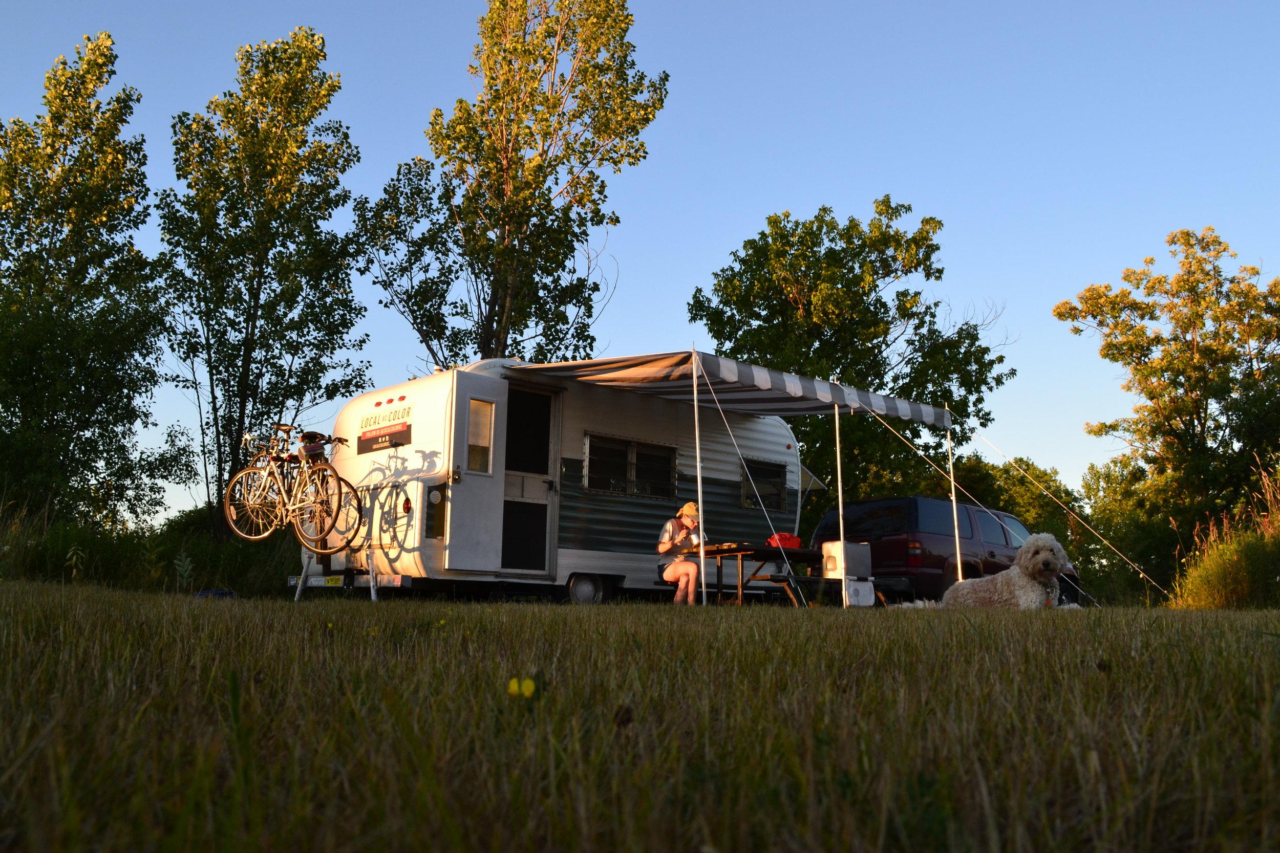 Our campsite at Bronte Creek Provincial Park.