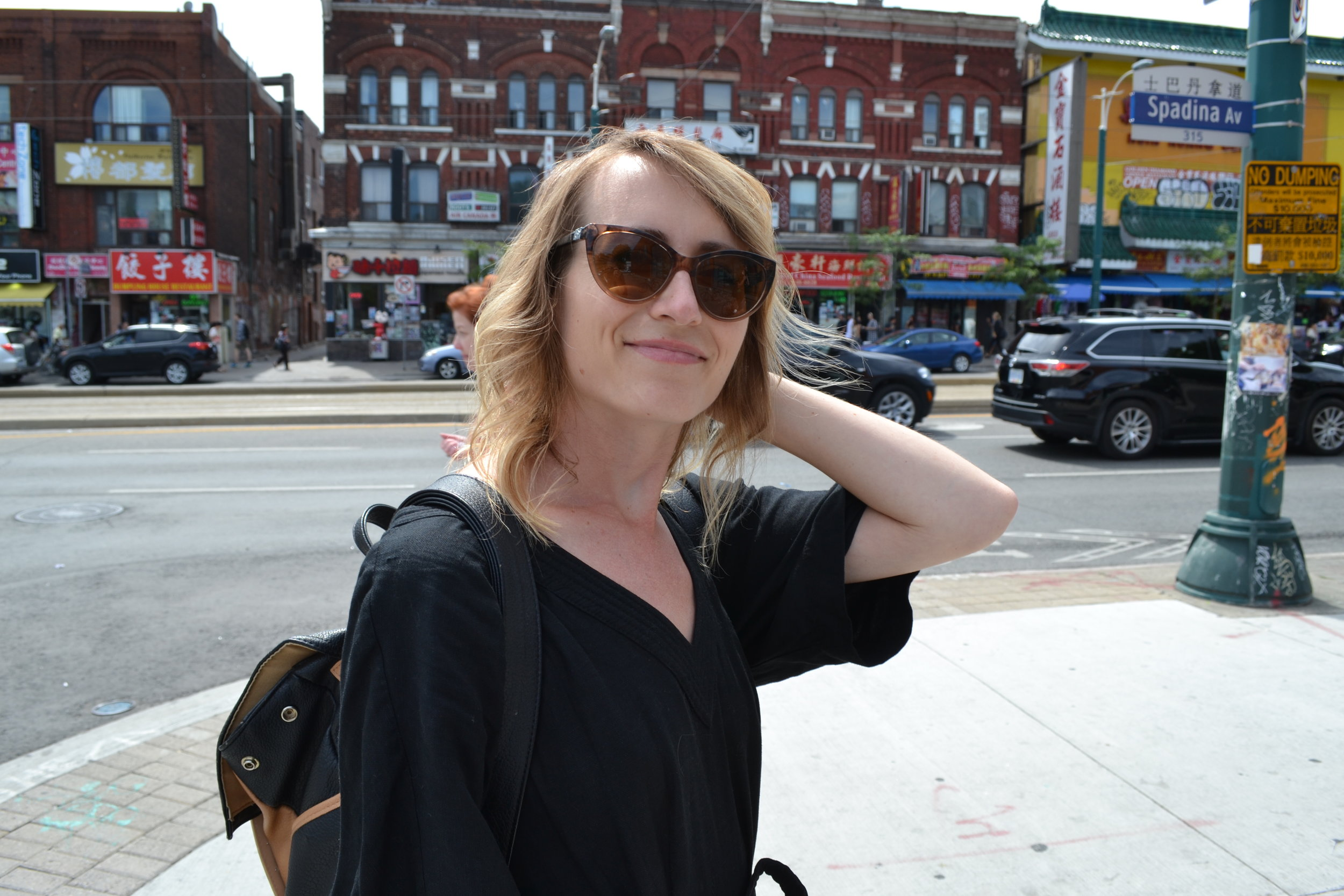 Mel on the streets of China Town.