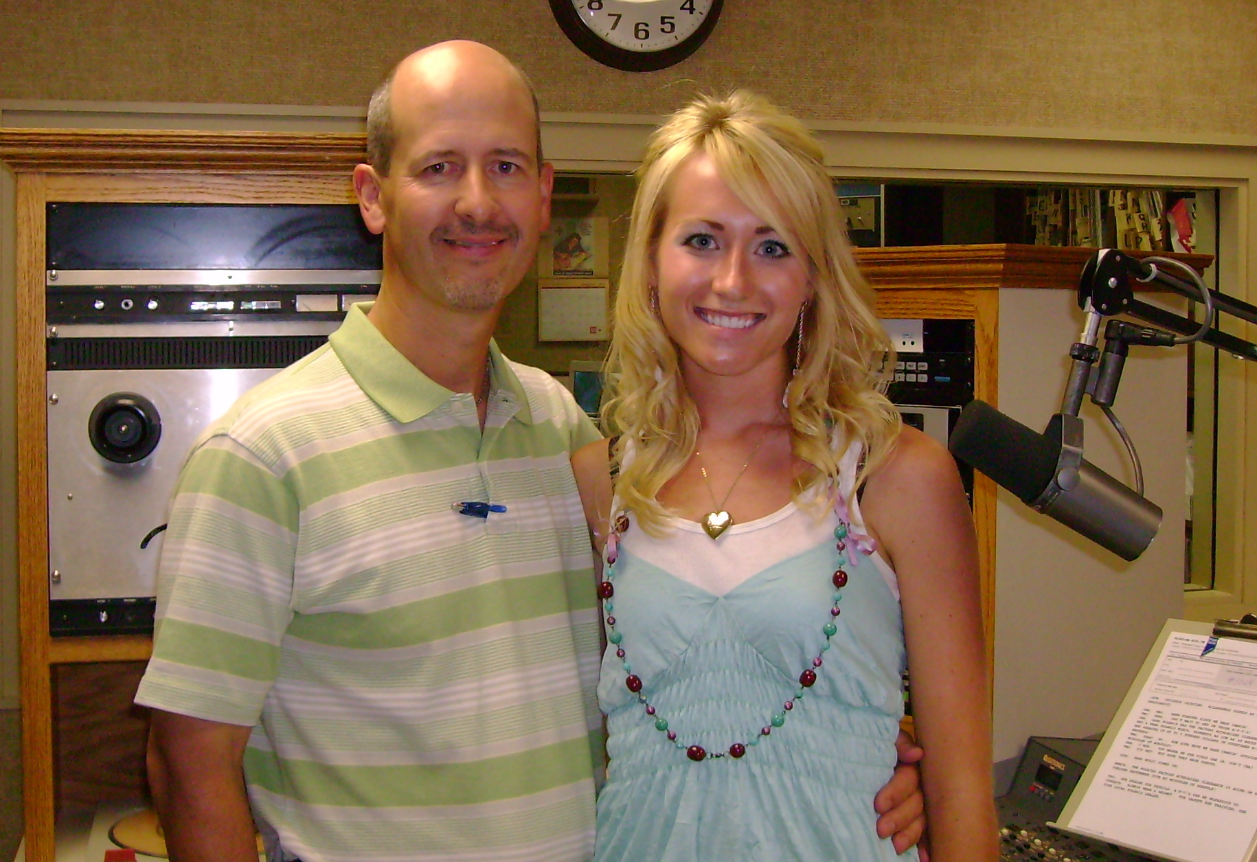 Me as an intern in 2006! Yes, I know: I was VERY blonde and VERY tan.