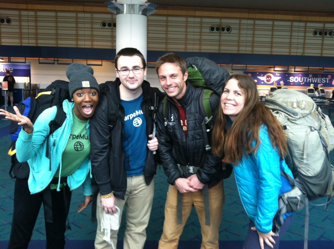 Sunte  'Ohna and Jake are off to South America with their leaders Mac and Gwen.