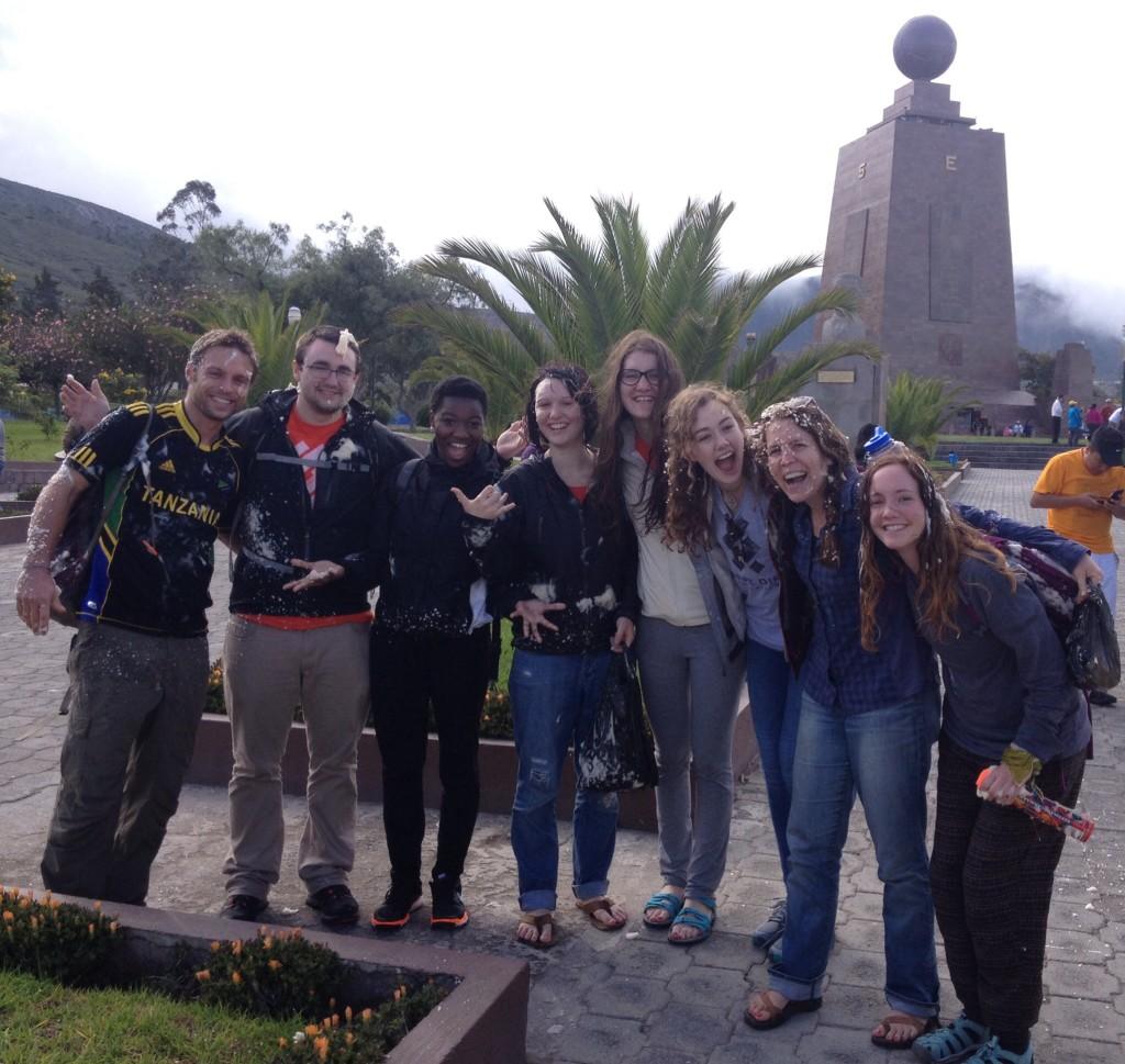 Carnival at the Equator. We got foamed!