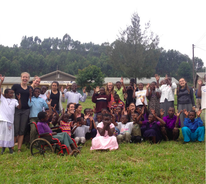 Our group with the kids at the Special Needs Education Center (SNEC)