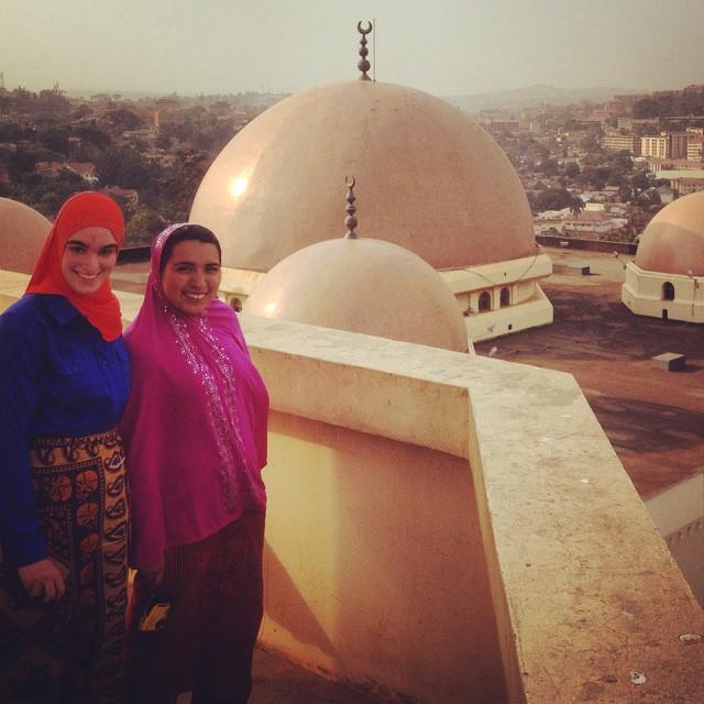 Cassandra visits a Mosque in Kampala