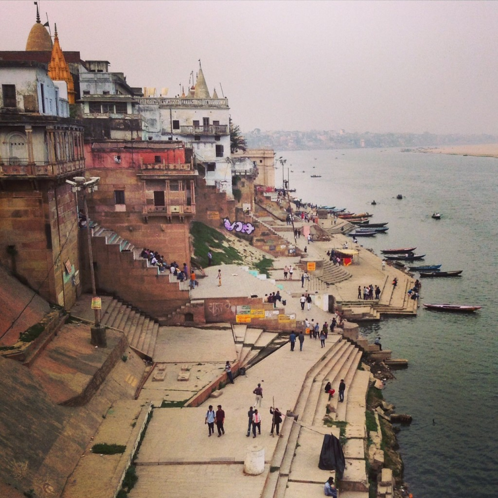 Overlooking the holy Ganges River