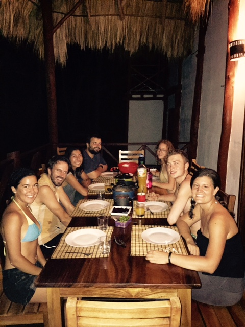 One of our family dinners at the beach house