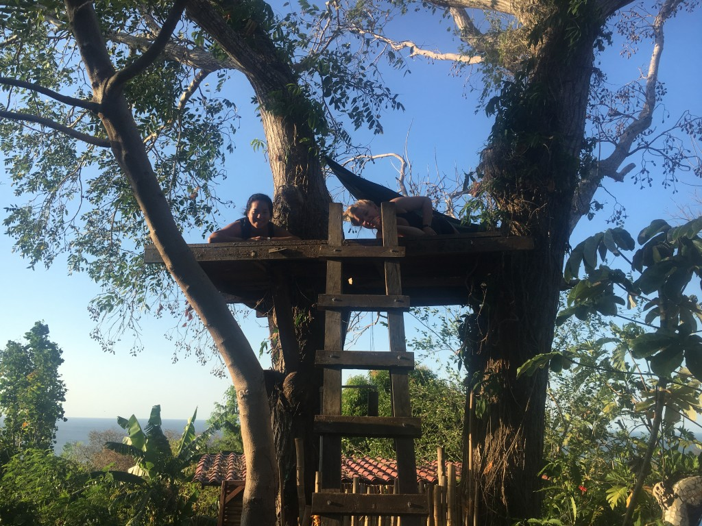 Lounging in the tree house