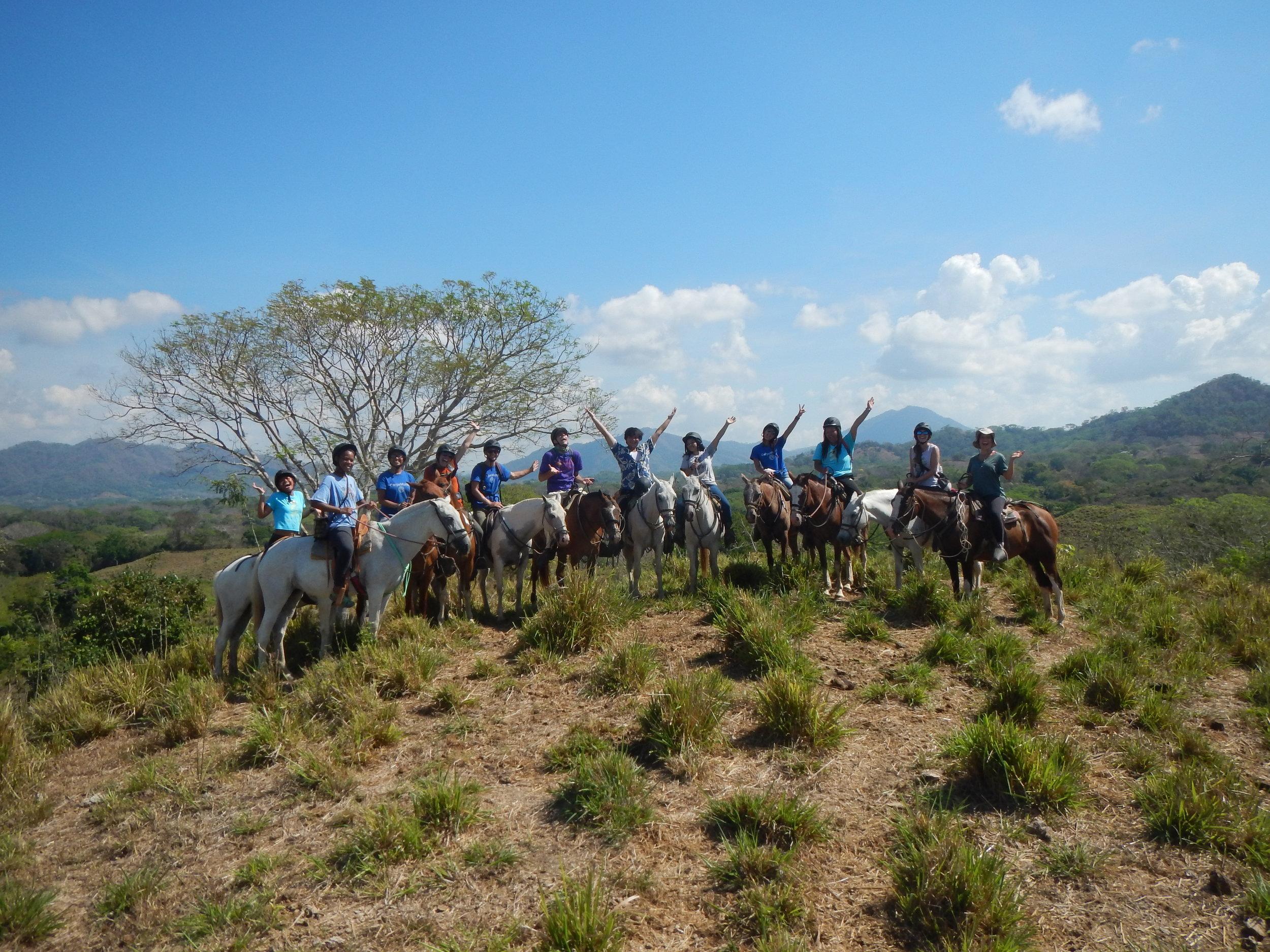 Fortaleza horseback riding in Costa Rica