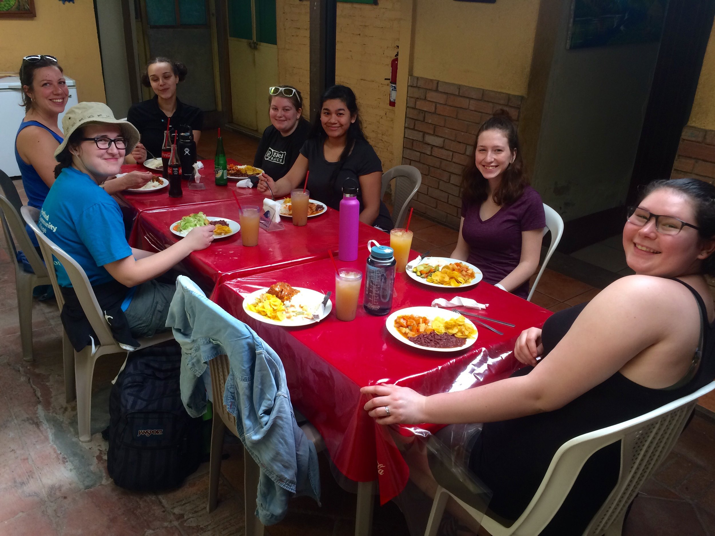 First lunch out in Matagalpa.  Everyone loved the food!