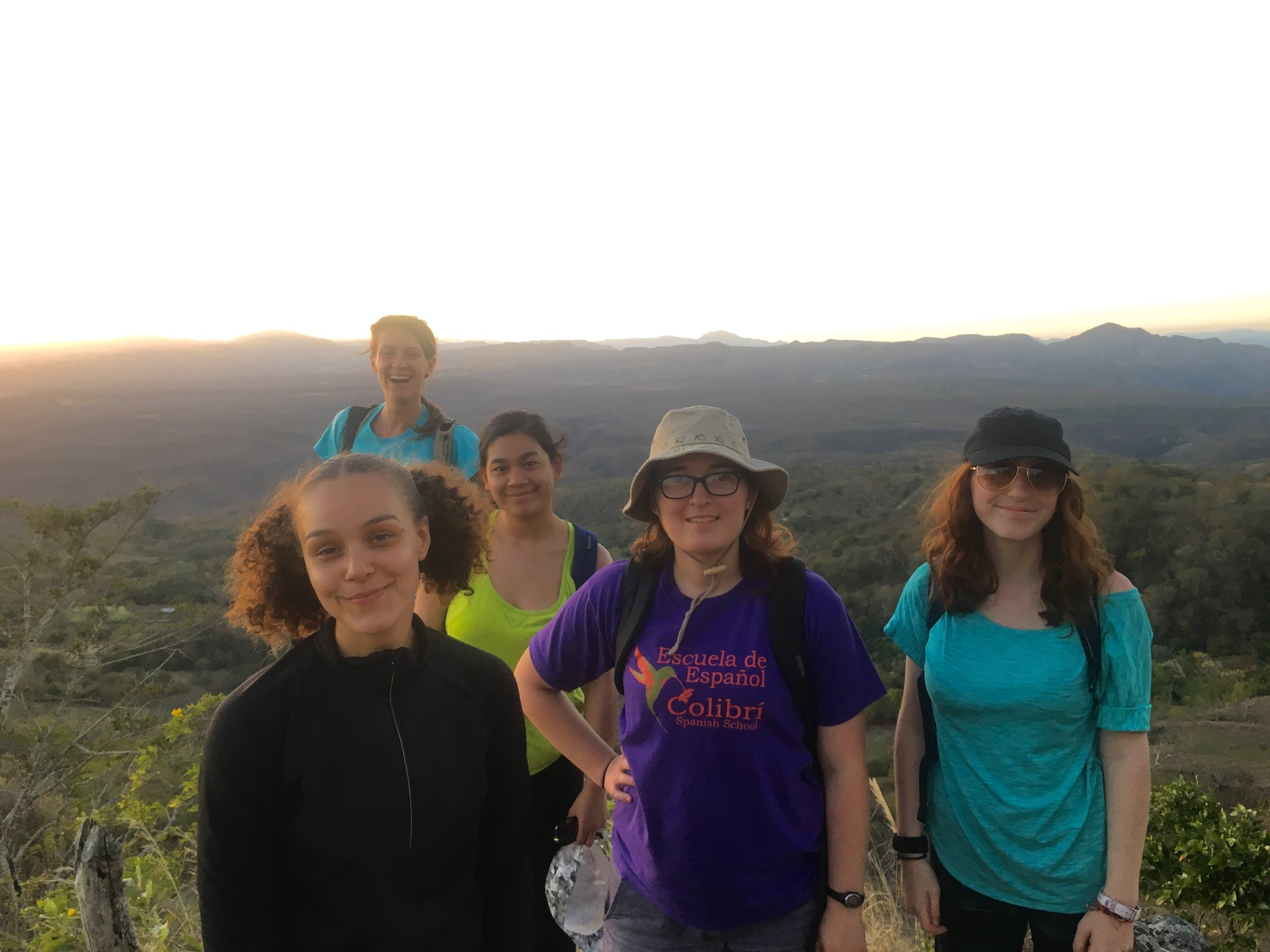Sunset hike to learn about the zones of the land, see Honduras, and watch the sun set.