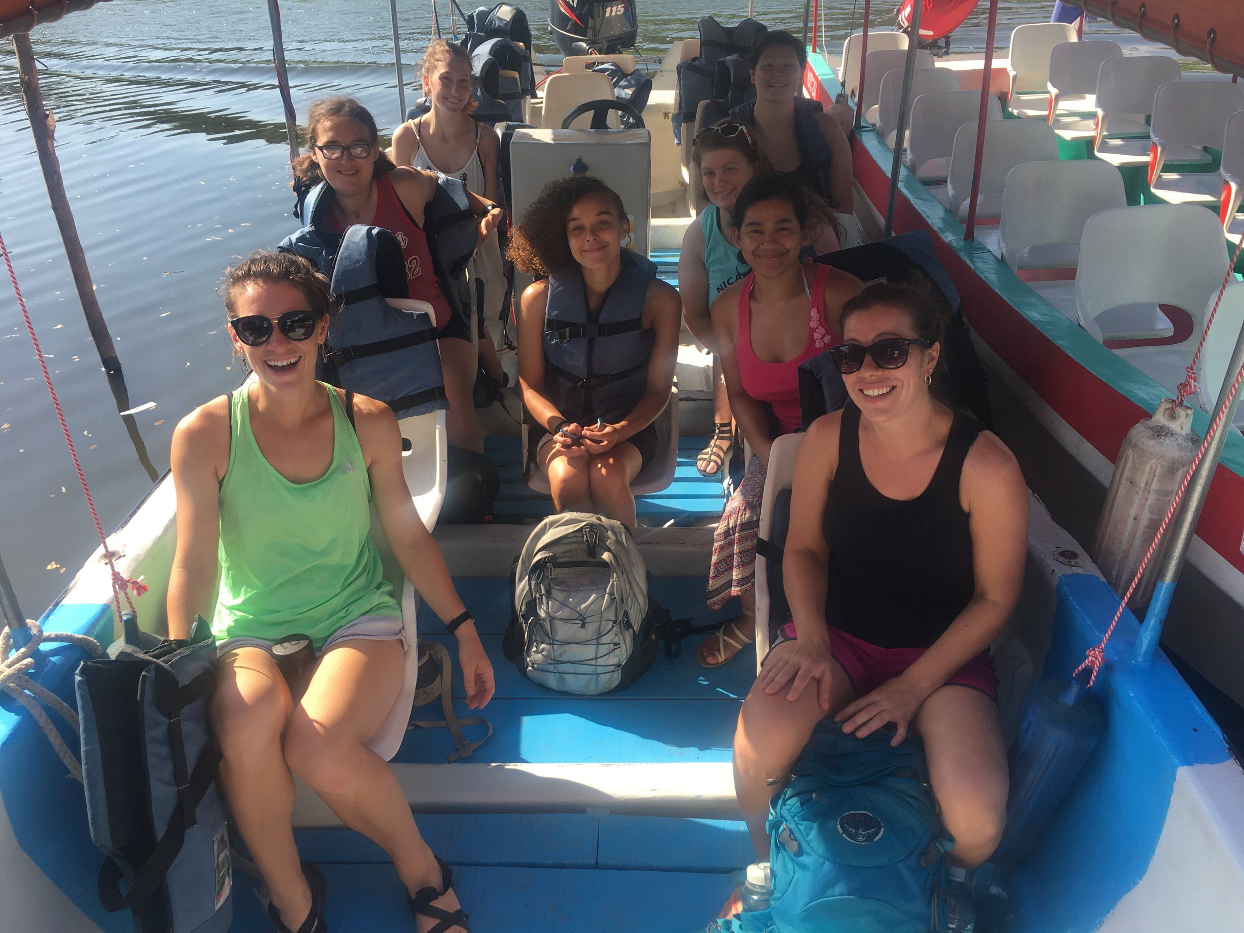 Heading out for a boat tour of Las Isletas (little islands) in Granada.