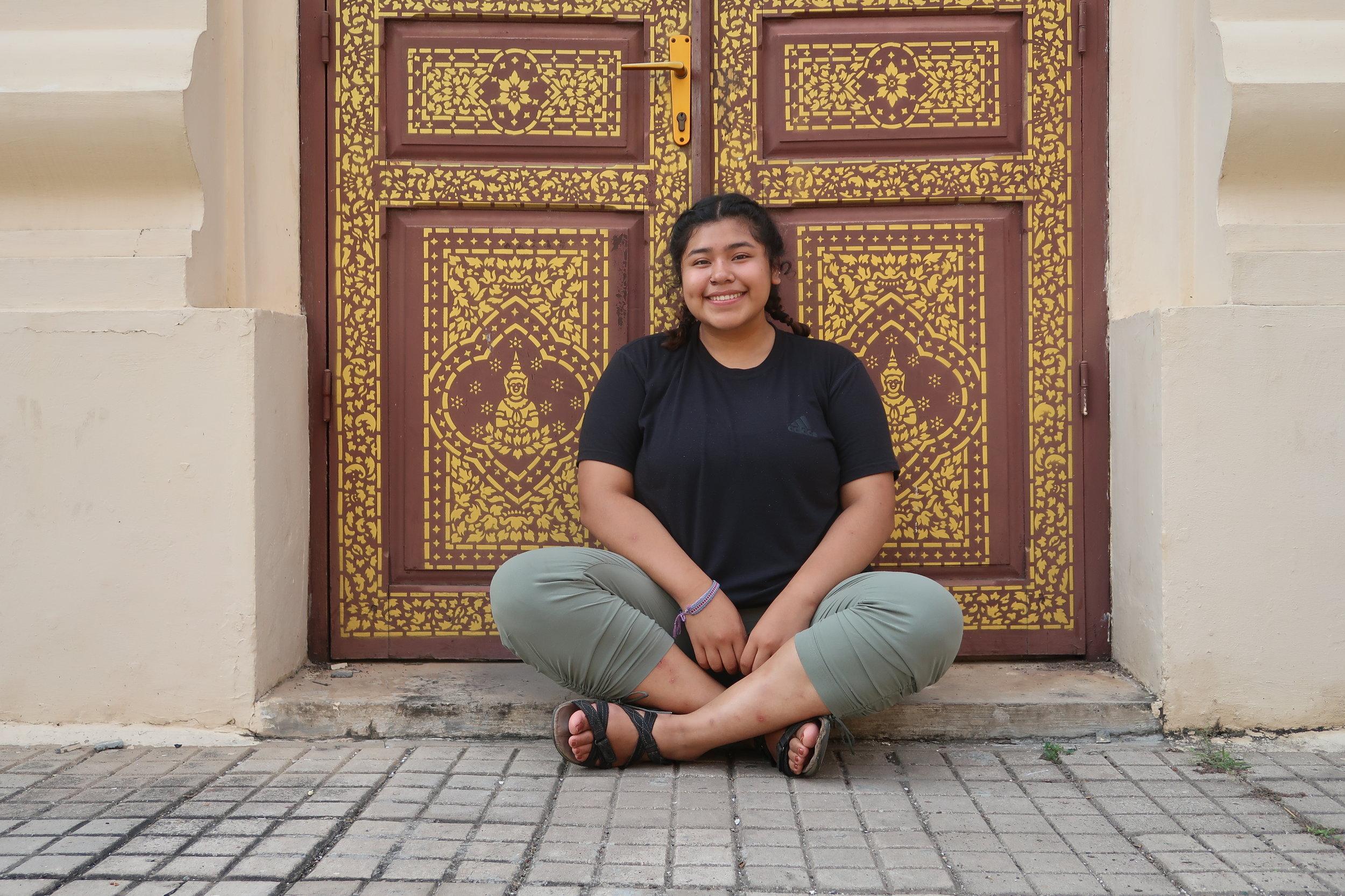 Alejandra during her trip