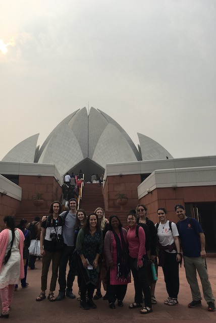 At the lotus temple.