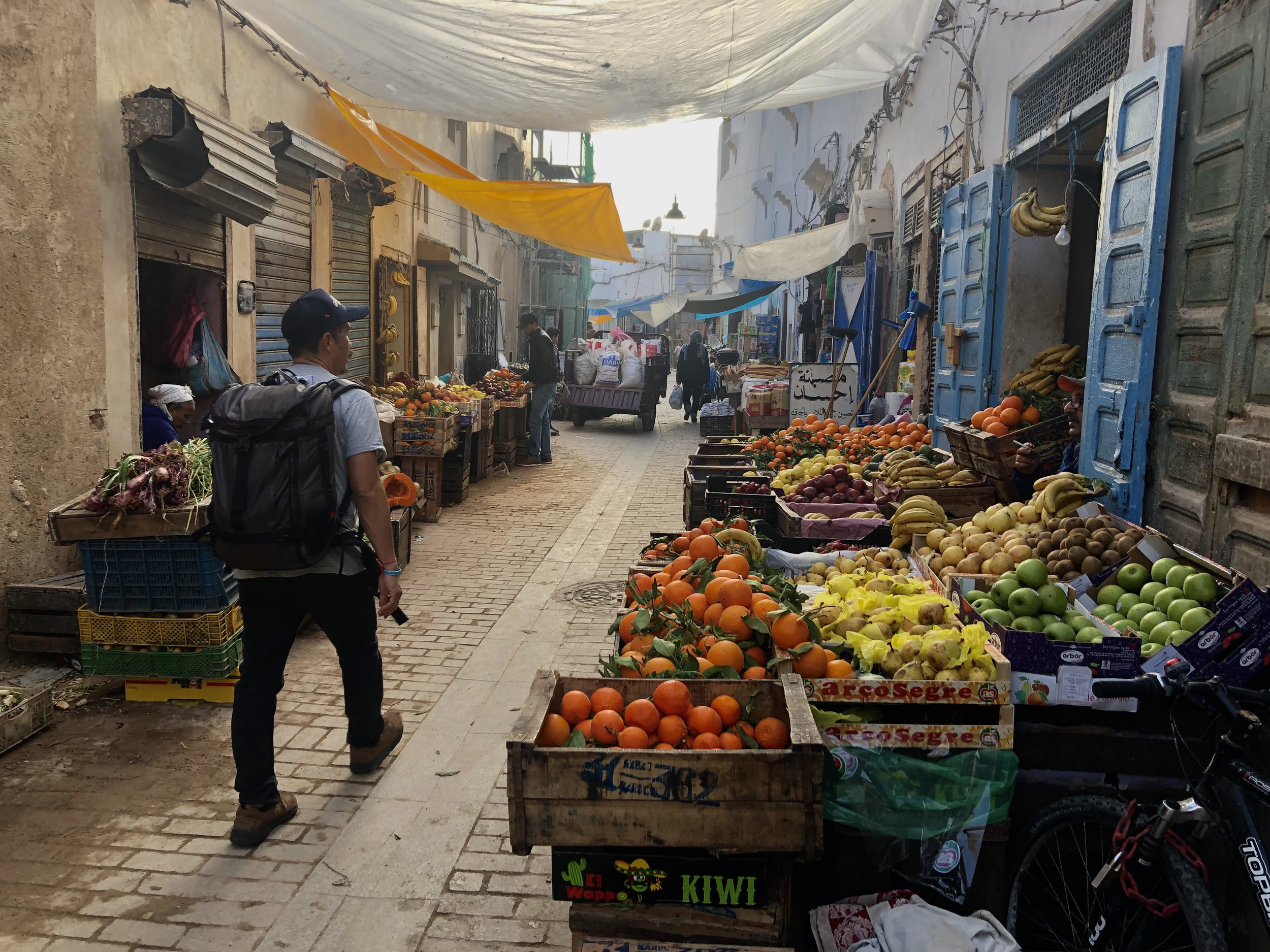 A vegetable street in the medina that we lived in.