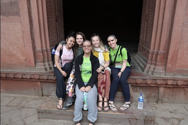 Bonding time at the Red Fort.