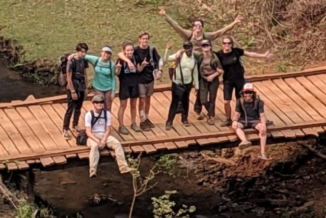 Group trekking north of Chiang Mai.